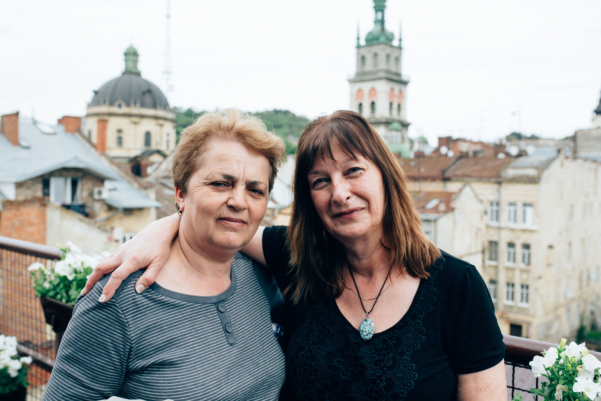 Maister chocolate. Slavka and Mom.