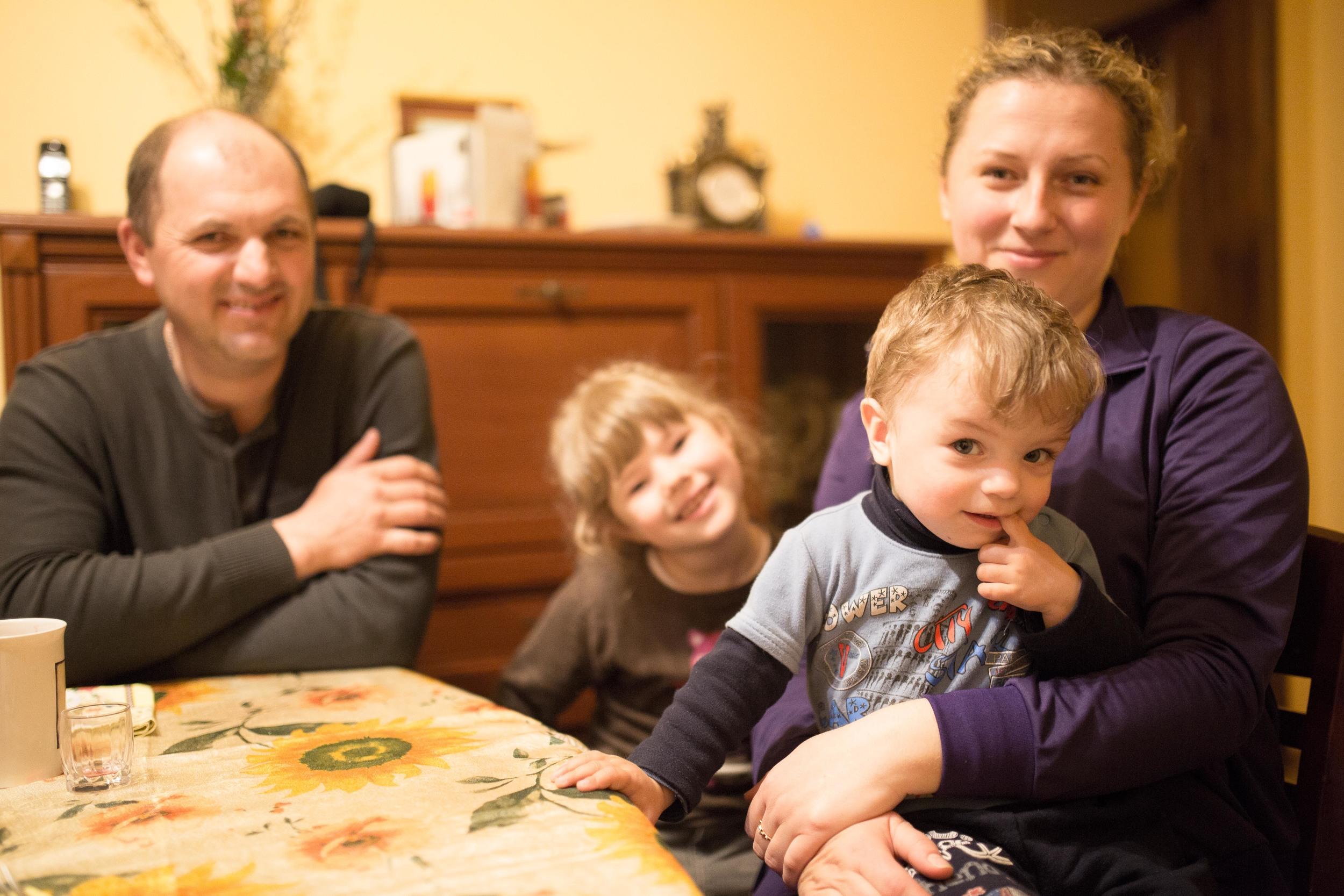 Yuri, Nastya, Natalya and Danylo.