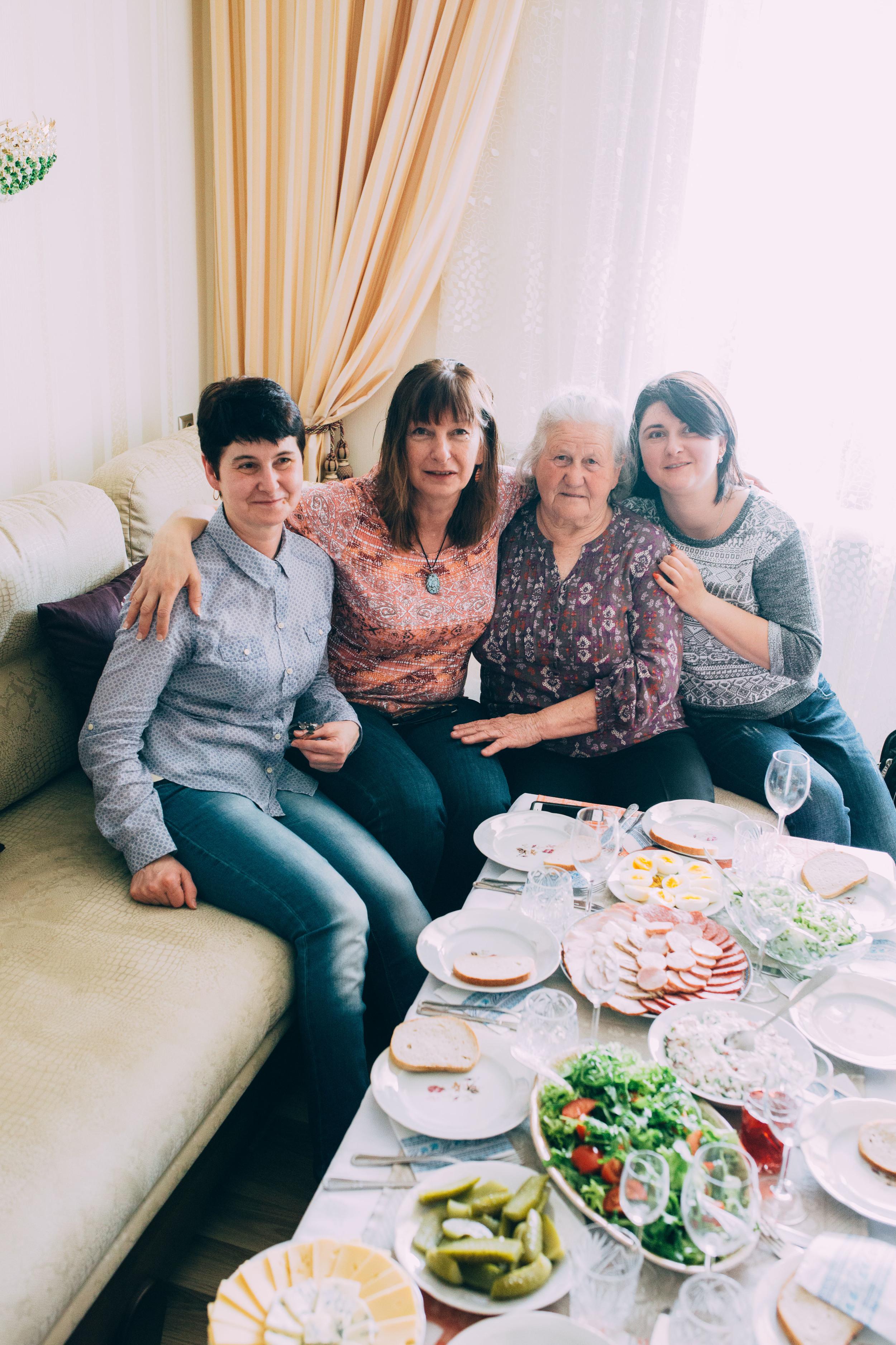 Chervonograd. Marusia, Mom, Katya and Oksana.