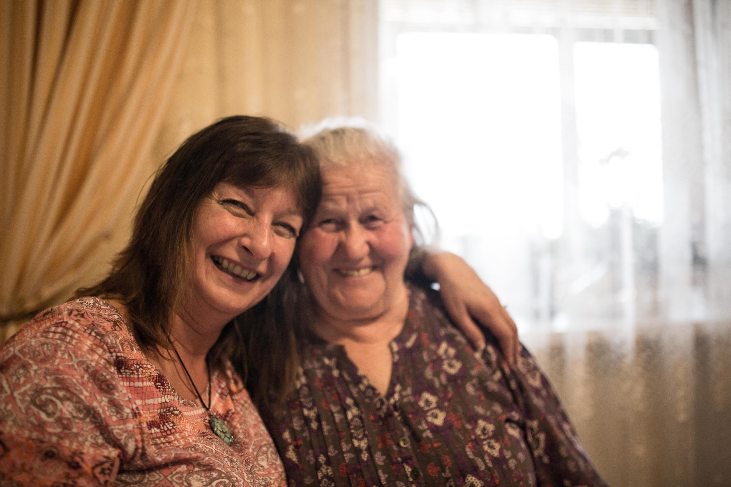 Mom and Katya.