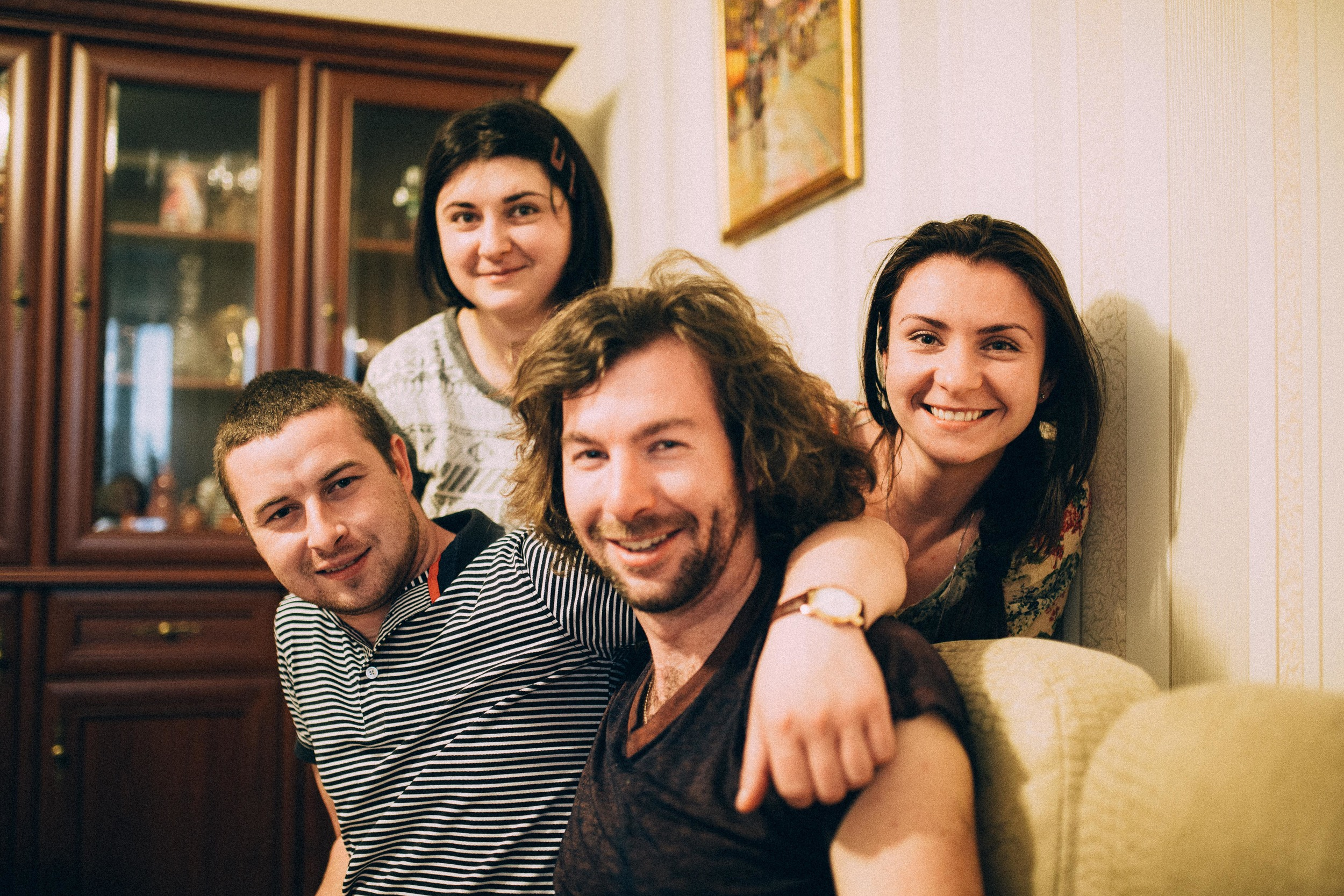 Taras, Oksana, Me, Olya.