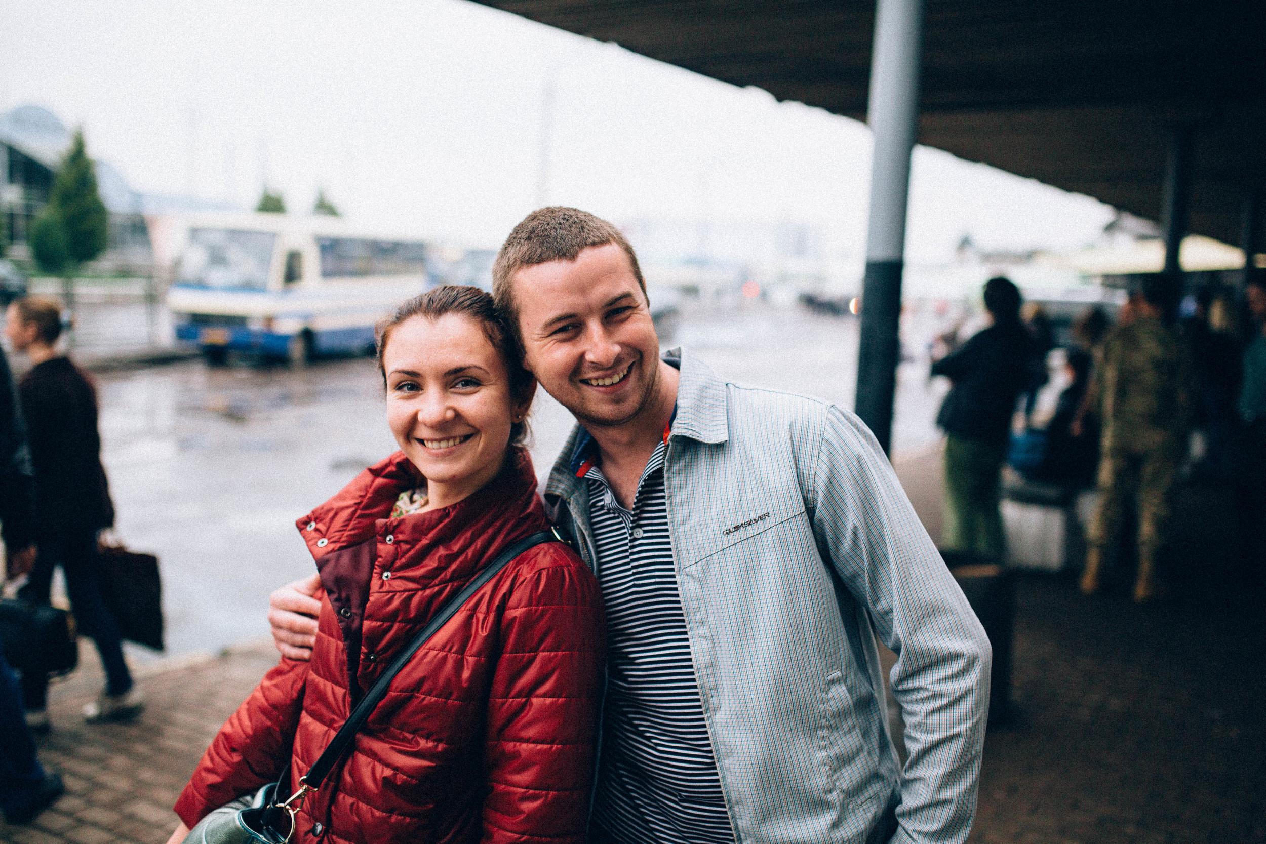 Olya and Taras.