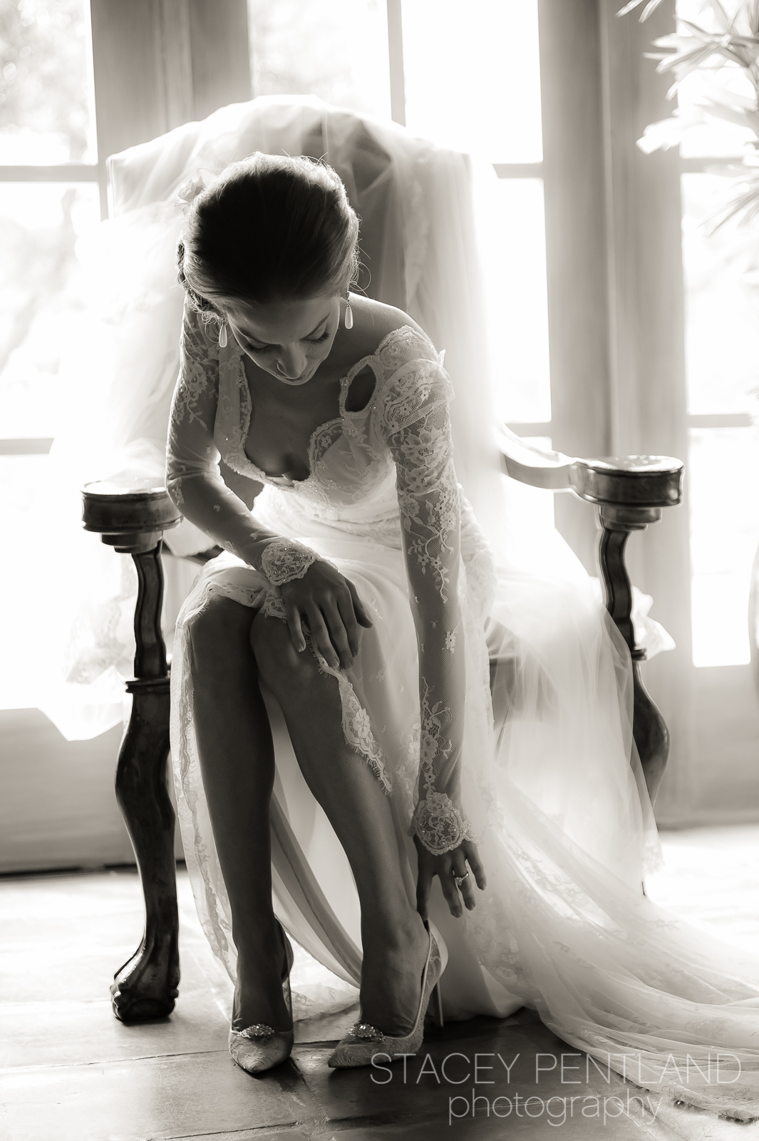 If you are wondering who made this gorgeous dress with the pretty and delicate lace, the dress is designed and created by  Inbal Dror , a designer from Israel.