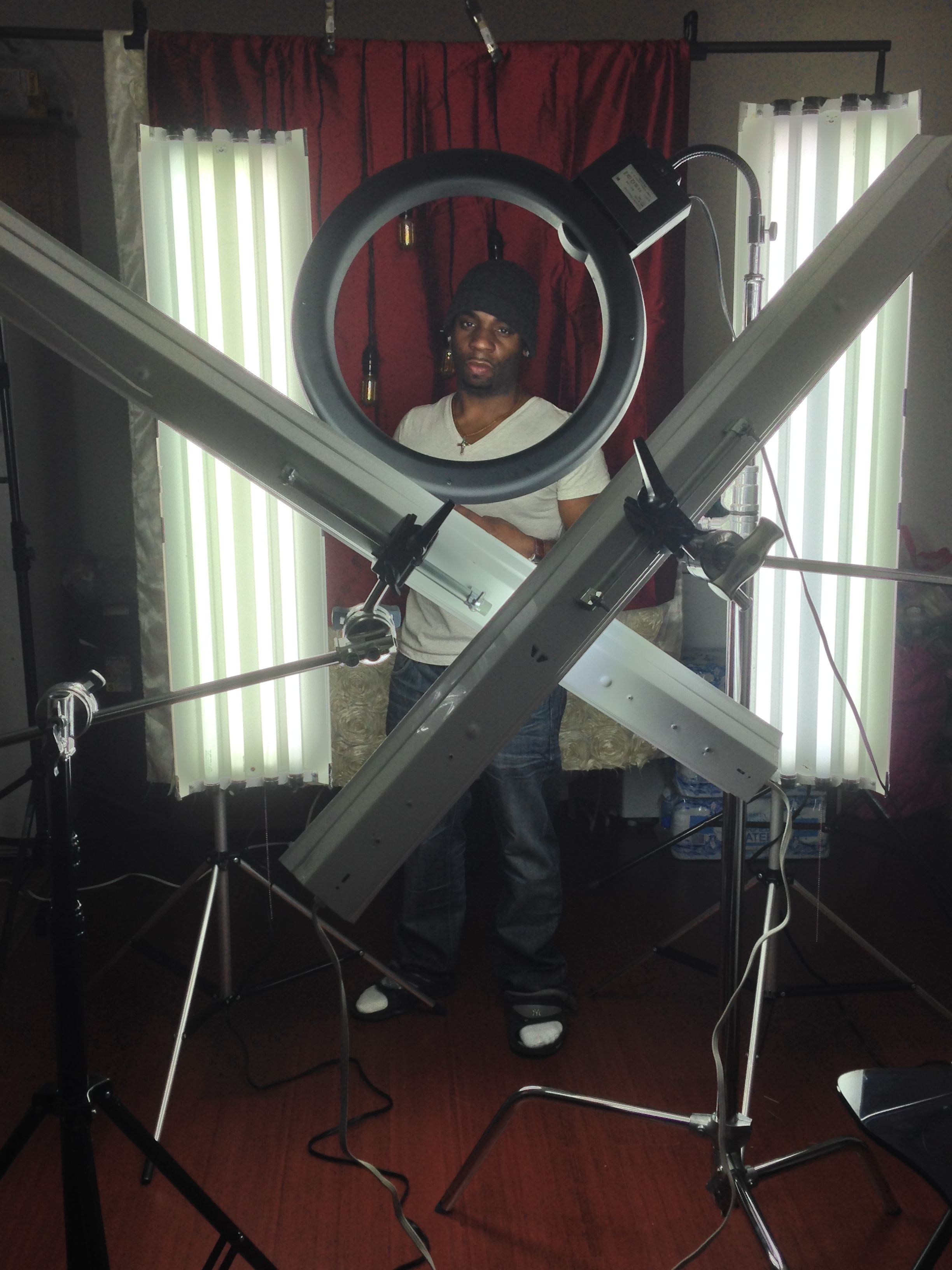 """BTS. """"How to achieve amazing catch lights in the eyes PT3"""" Check me out people : )"""