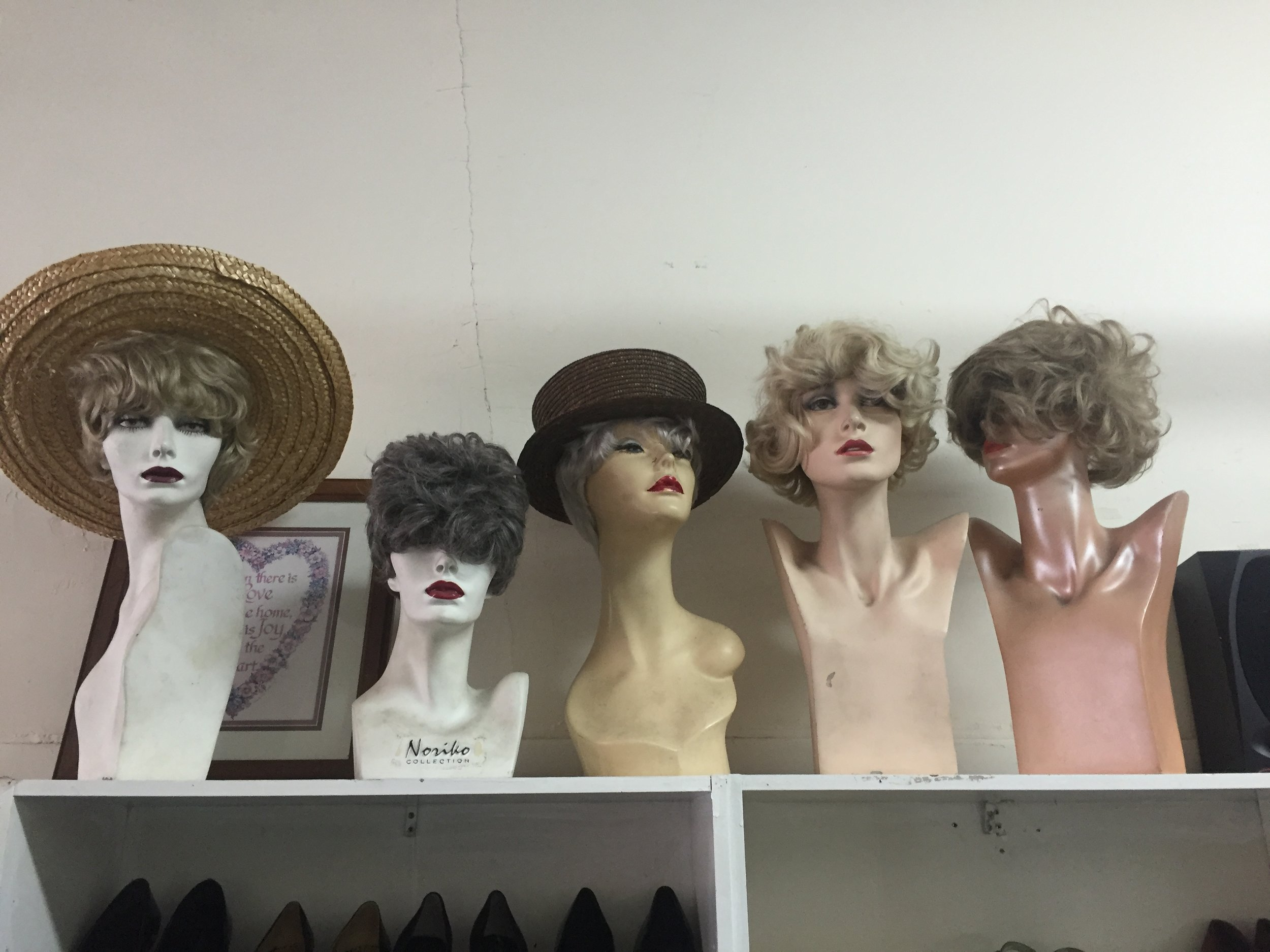 This is how I originally saw the mannequins only they were in the window. Can you pick out the mannequin I used for the shoot?