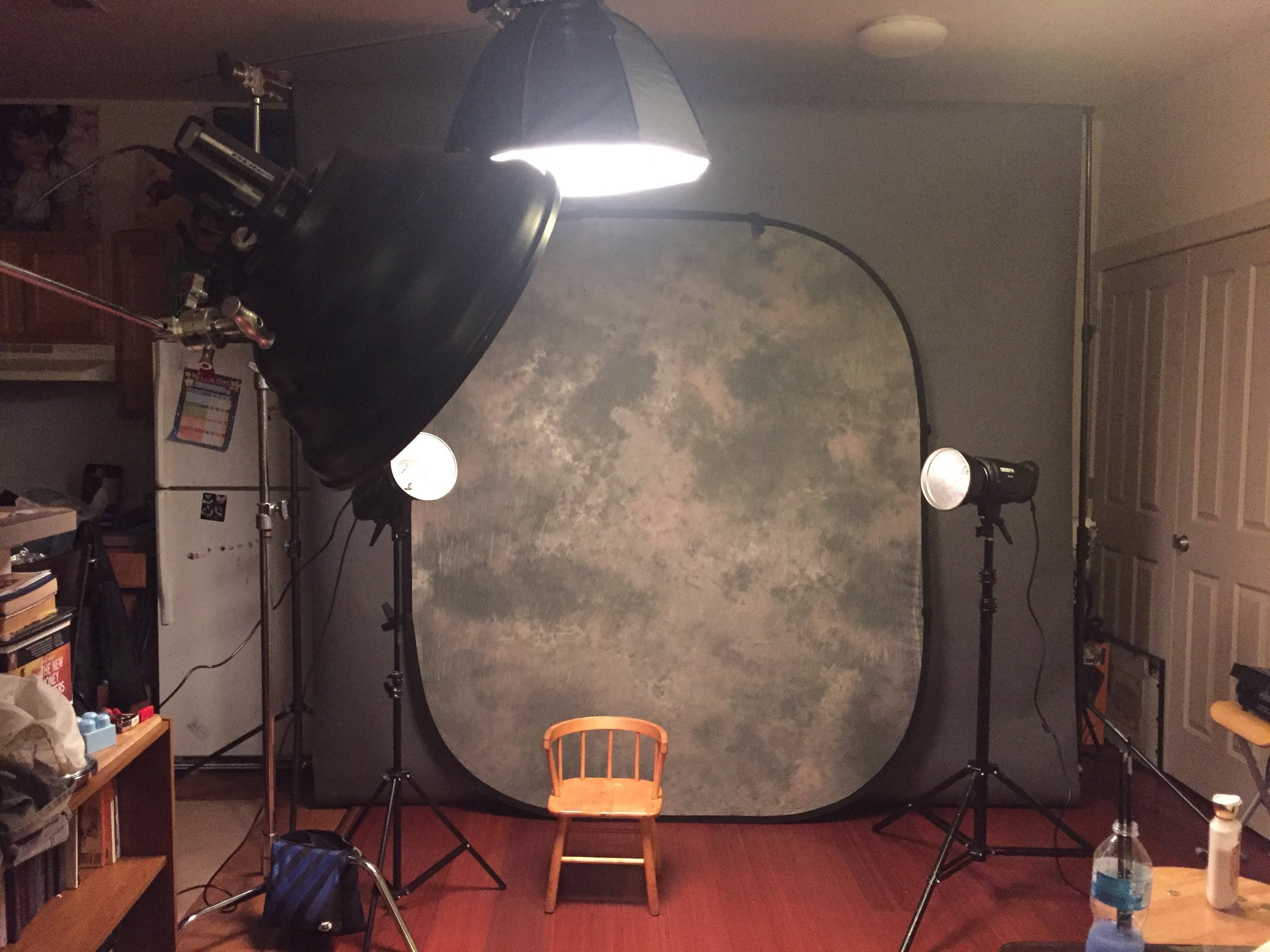 "#HomeStudio #Setup MolaSetti + 24"" OctaBox + (2) 7"" Reflectors"