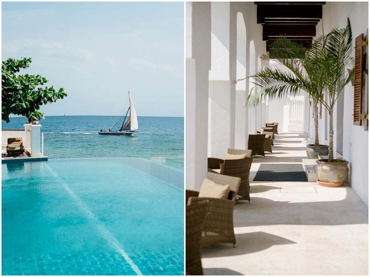Zanzibar City Park Hyatt Tanzania Africa infinity pool boat relaxation