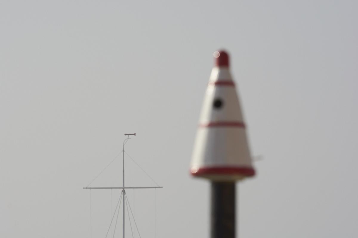Original, gammel stærekasse og signalmasten i Agger- ©Michael Ruby