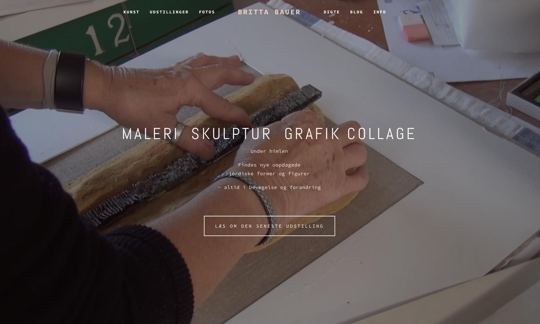 Website: Kunstner Britta Bauer