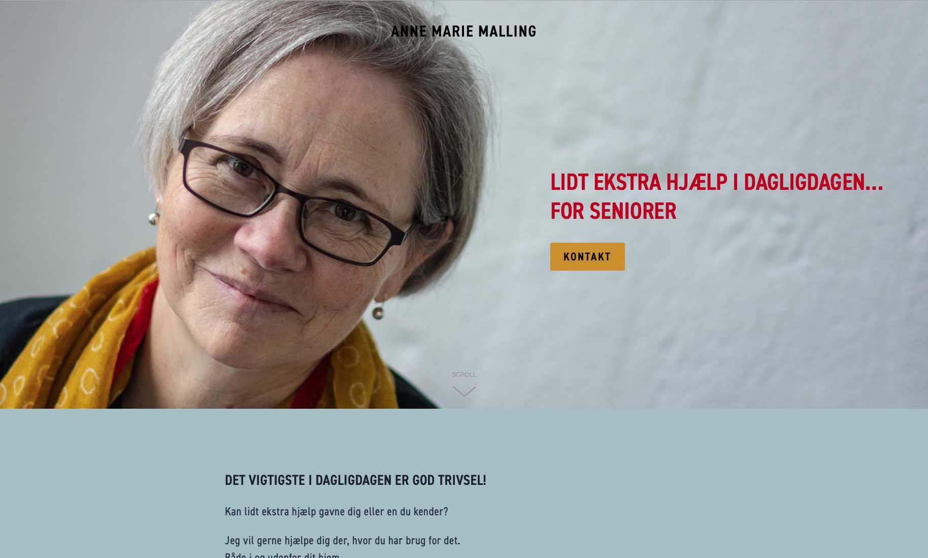 Website: Anne Marie Malling - seniorhjælp