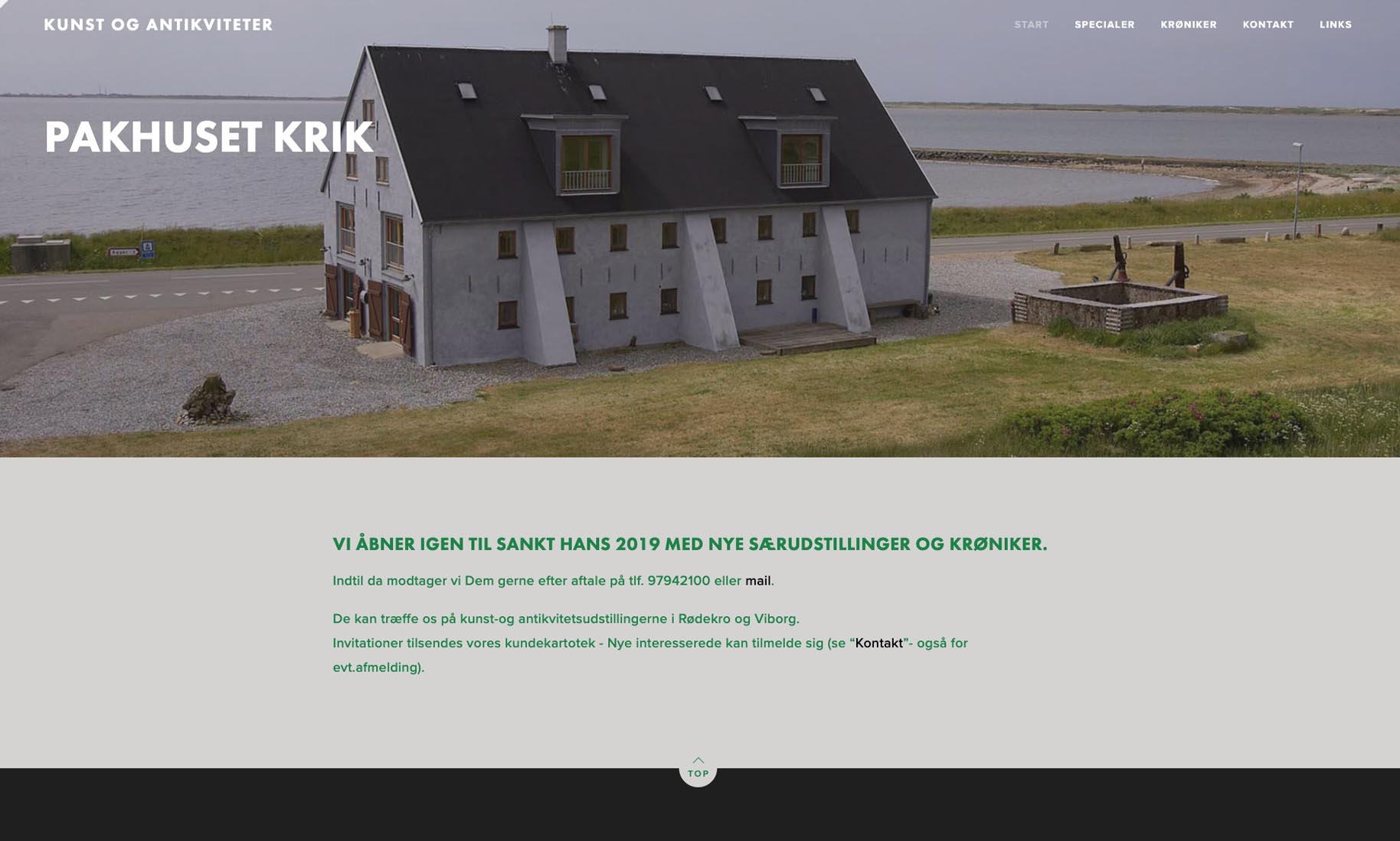 Website: Pakhuset Krik (nu udløbet)