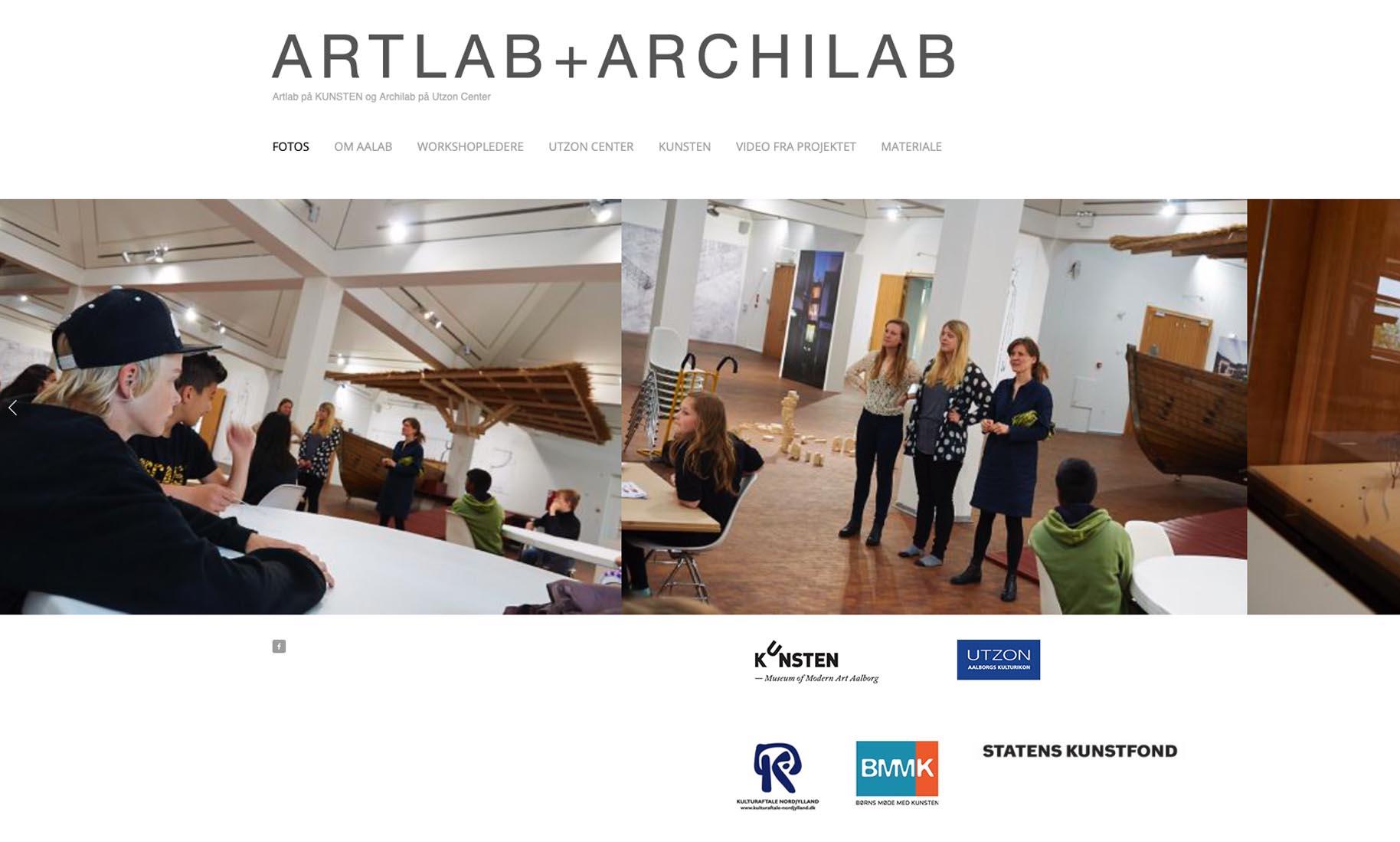 Website: ARTLAB+ARCHILAB (kunstprojekt for Region Nordjylland)