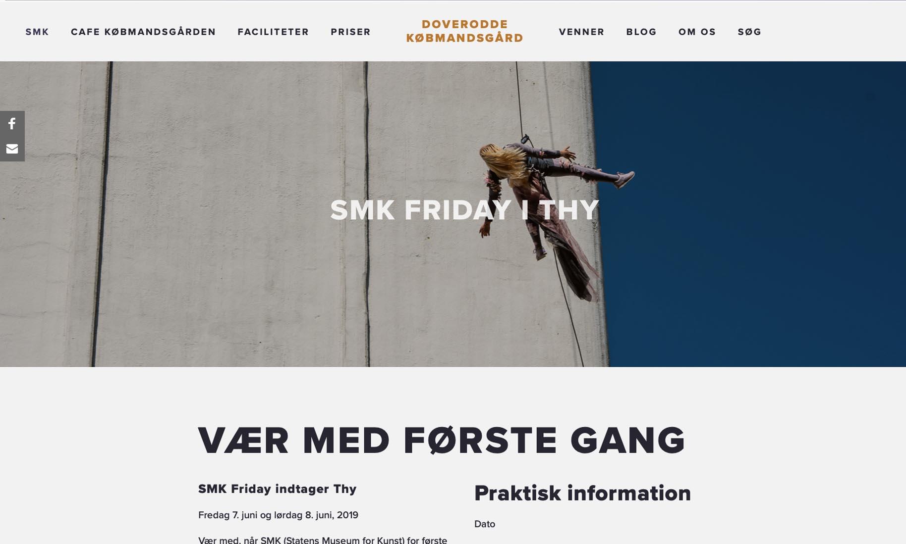 Website: Doverodde Købmandsgård (kunst, kultur, natur og friluftsliv)
