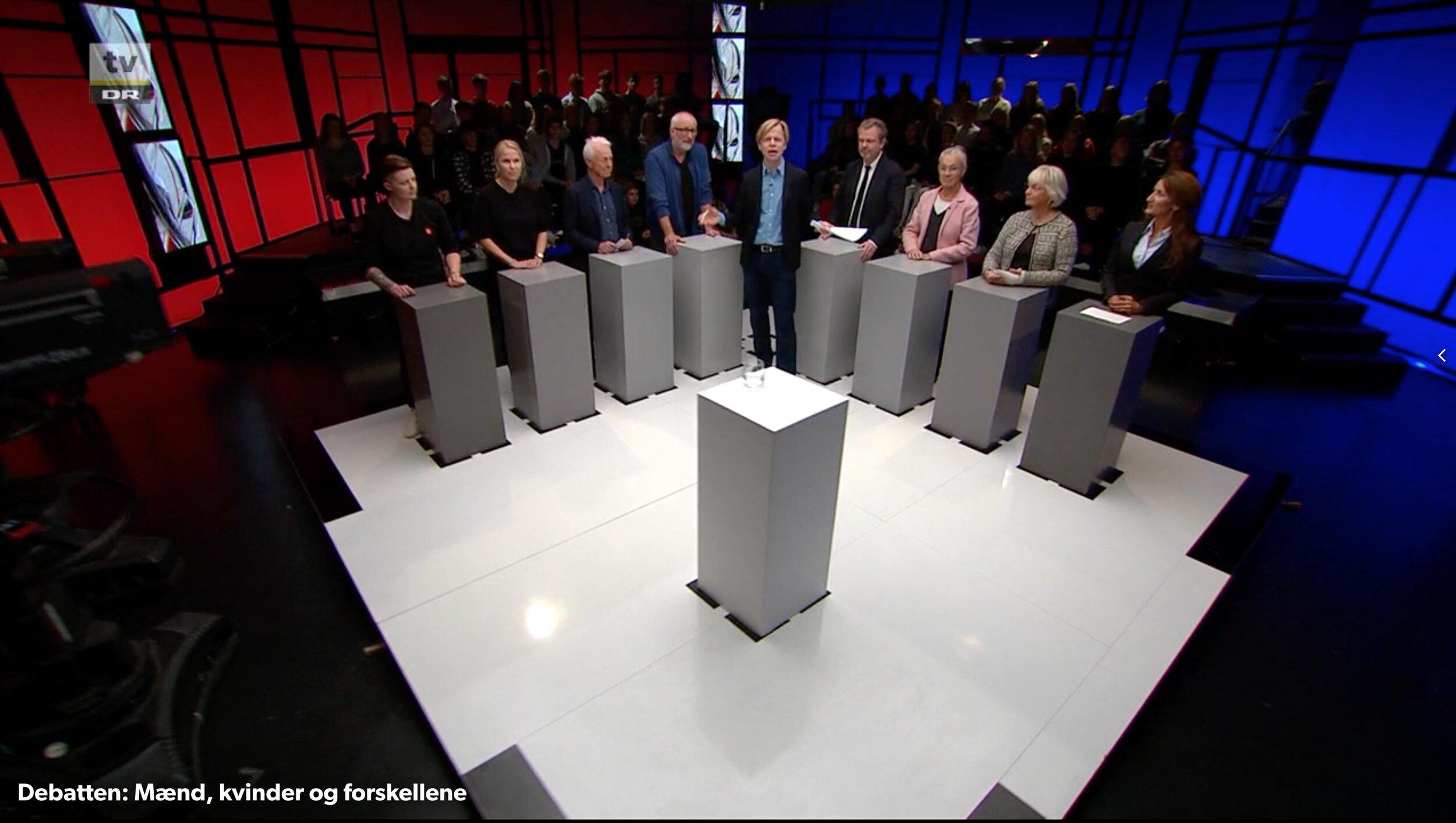 """Billede fra TV udsendelsen """"Debatten"""" i DR TV."""