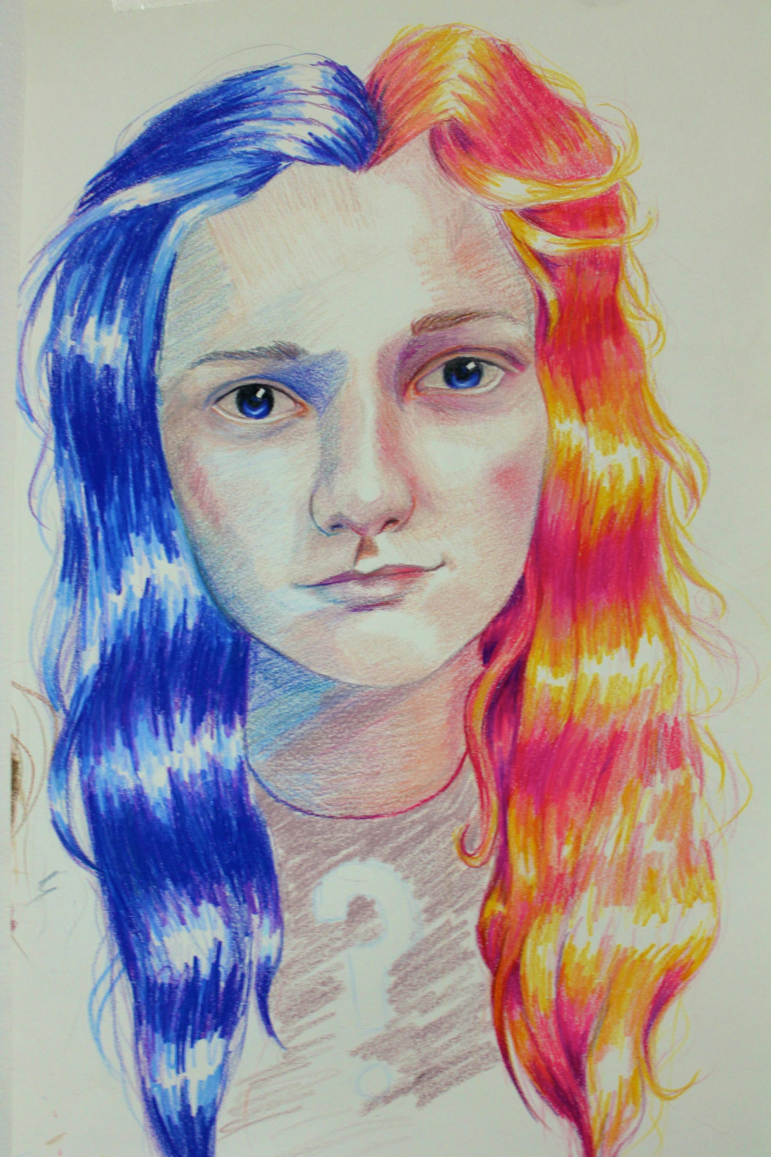 Portrait 3 (coloured pencil)