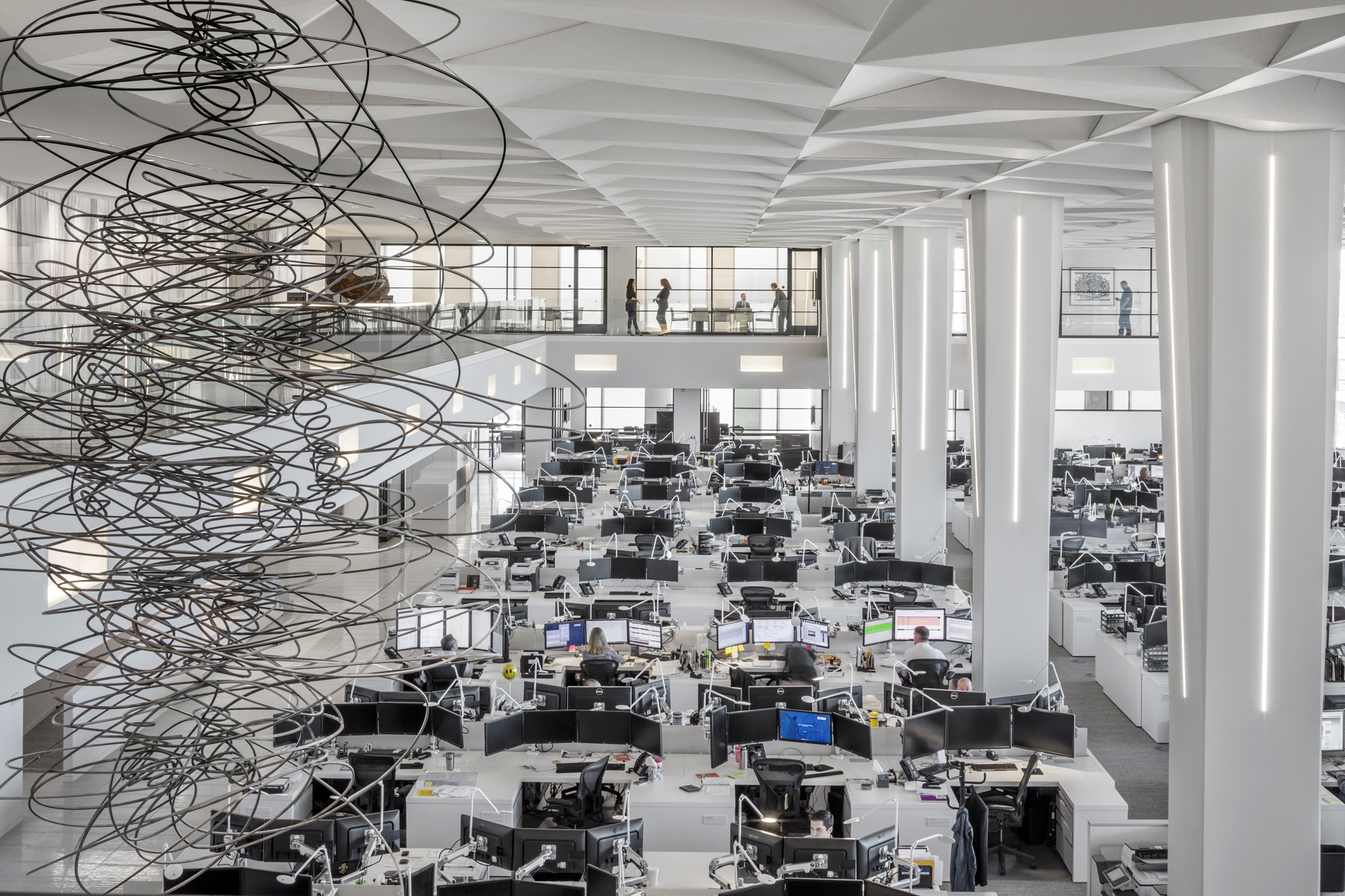 """""""A bustling trading floor infused with art and daylight exudes a sophisticated energy"""" - Architectural record"""