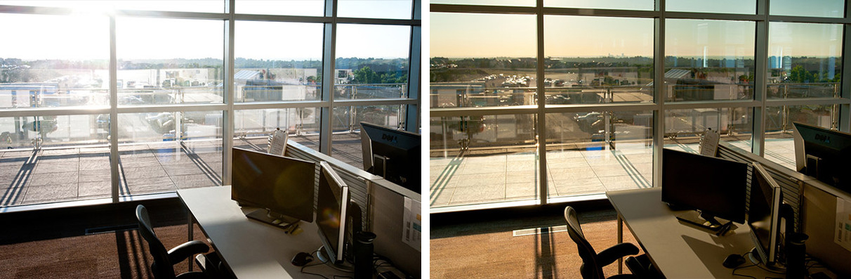 Before and After Dynamic Glazing