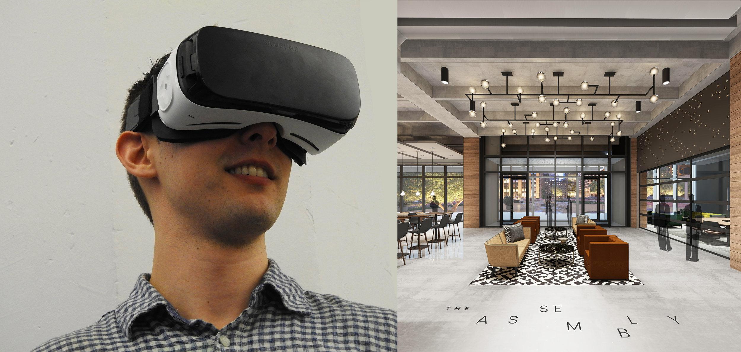 Virtual reality walk-through