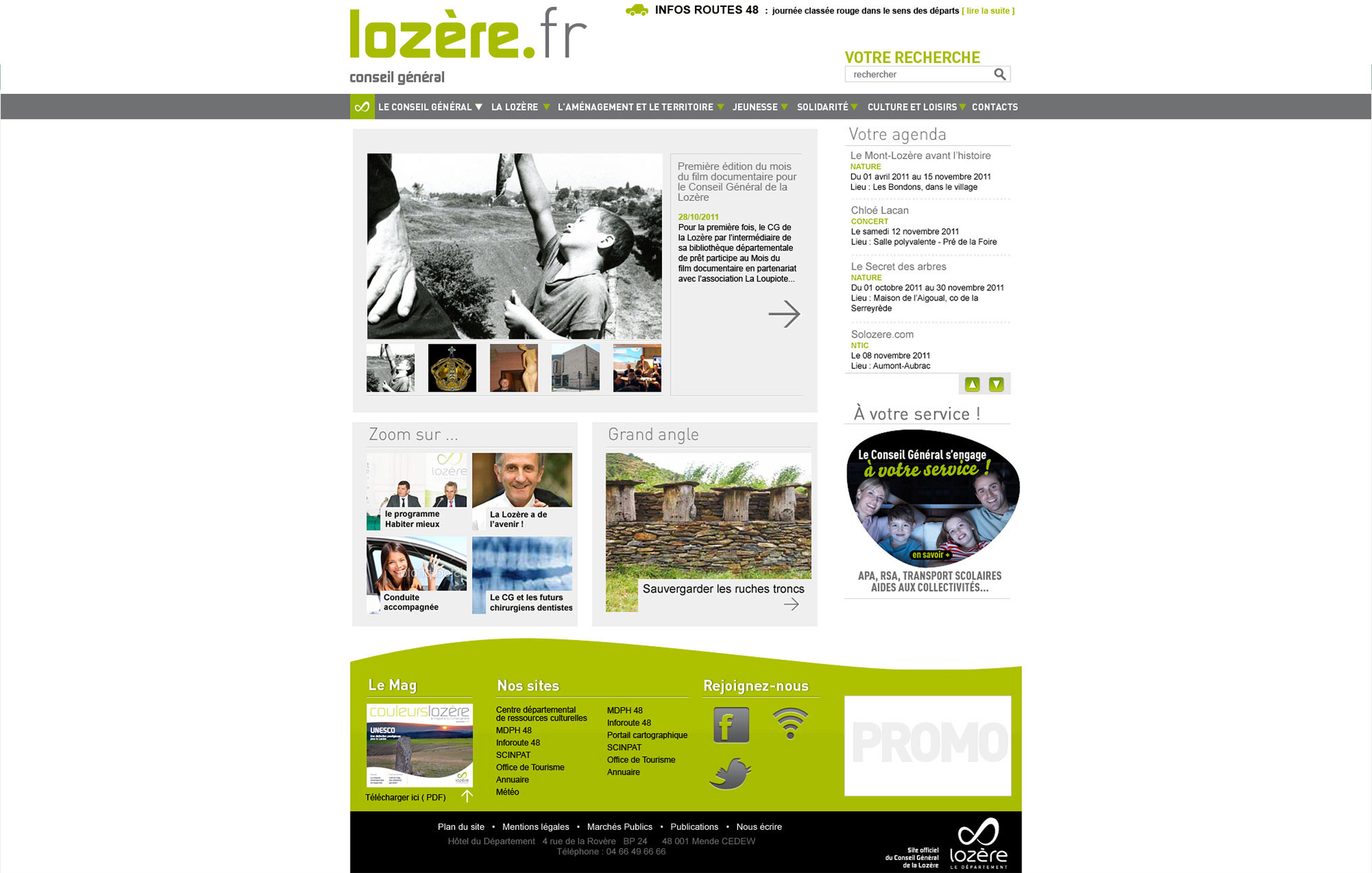 CG Lozère : site officiel du Conseil Général de Lozère.