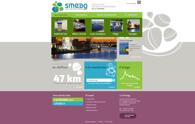 Smeag : syndicat mixte d'étude et d'aménagement de la Garonne.
