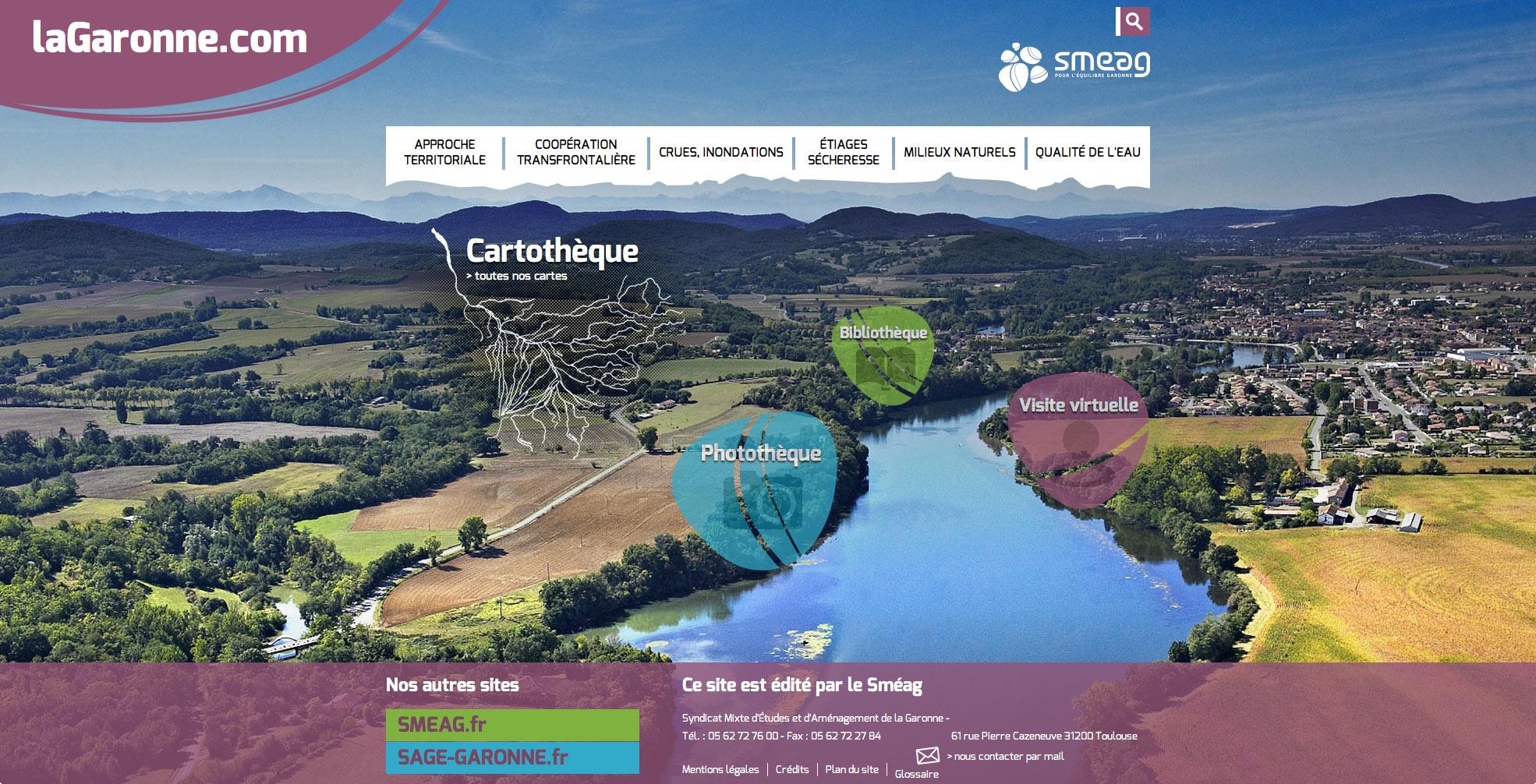 La Garonne : la garonne.com, un site réalisé par le SMEAG.
