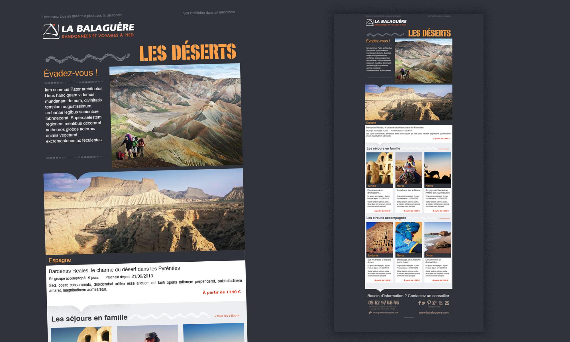 La Balaguère : infolettre pour le site de la Balaguère