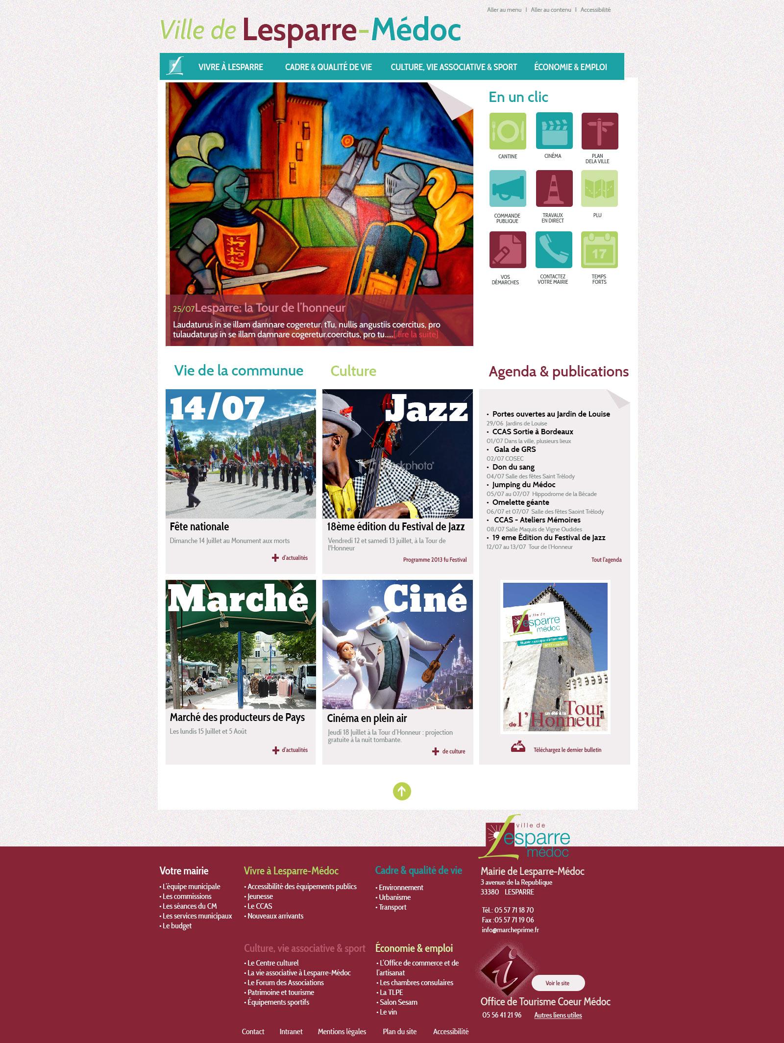 Mairie de Lesparre : site officiel de la mairie de Lesparre.