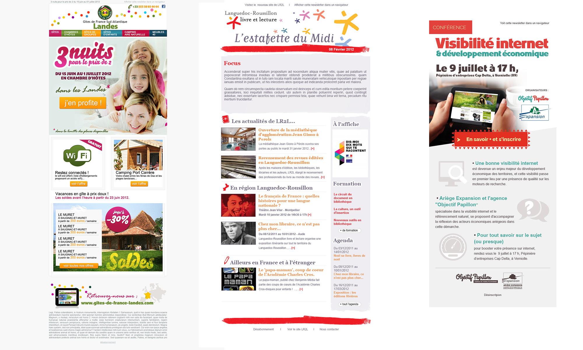 INfolettres Gîtes de France Landes / Languedoc-Roussillon Livre et lecture / Objectif Papillon