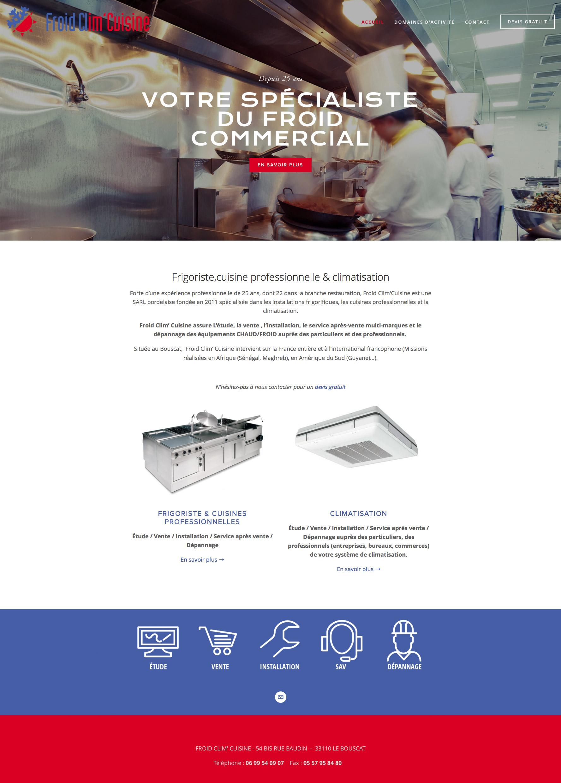 Froidclimcuisine.com : Froid Clim' Cuisine, frigoriste, cuisines professionnelles et climaticien.