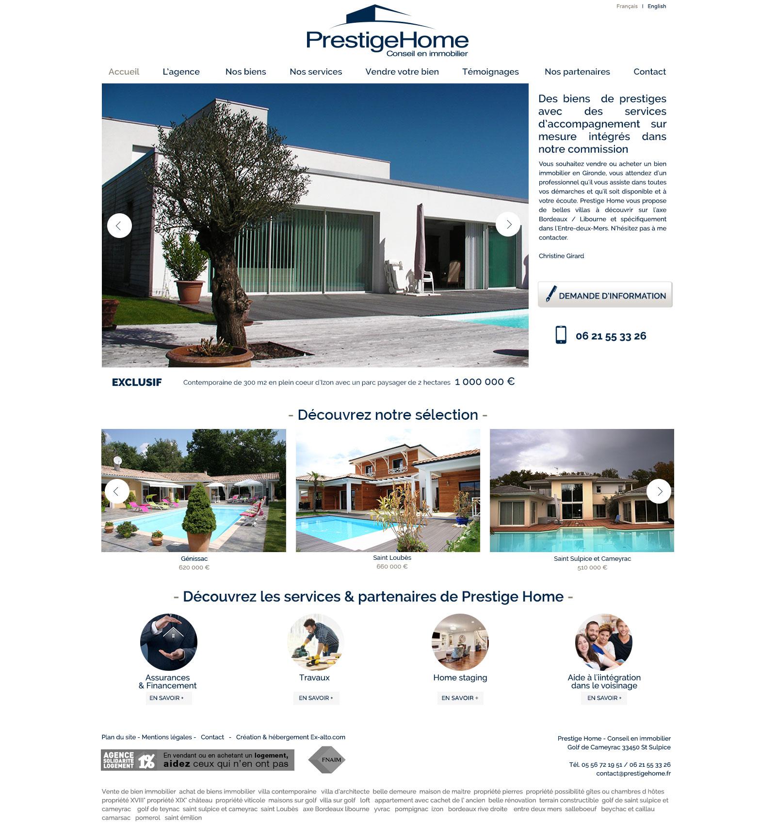 Prestigehome : l'immobilier sur mesure sur Bordeaux centre et Bordeaux rive droite.