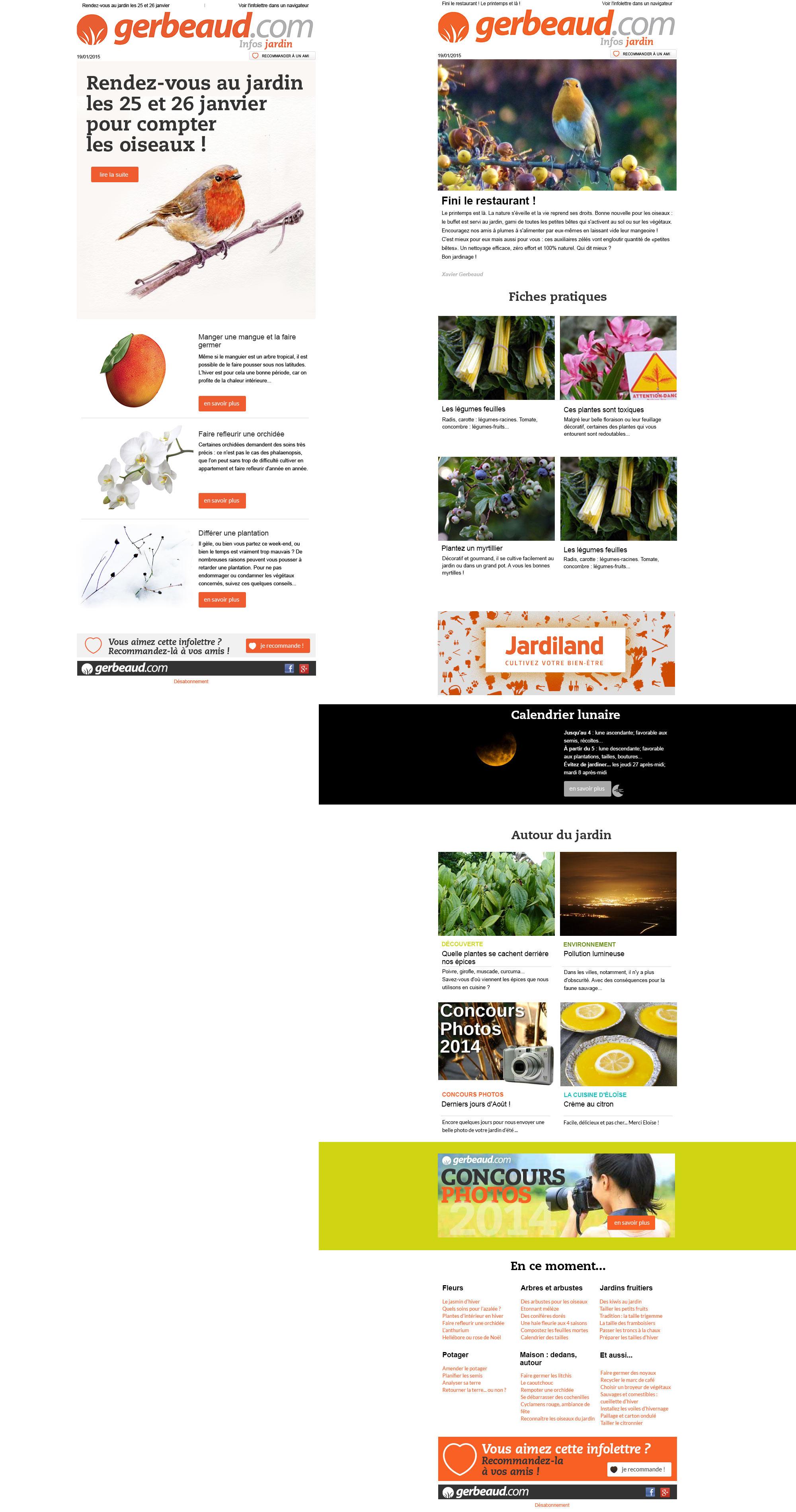 Gerbeaud.com : infolettres pour le site gerbeaud.com.