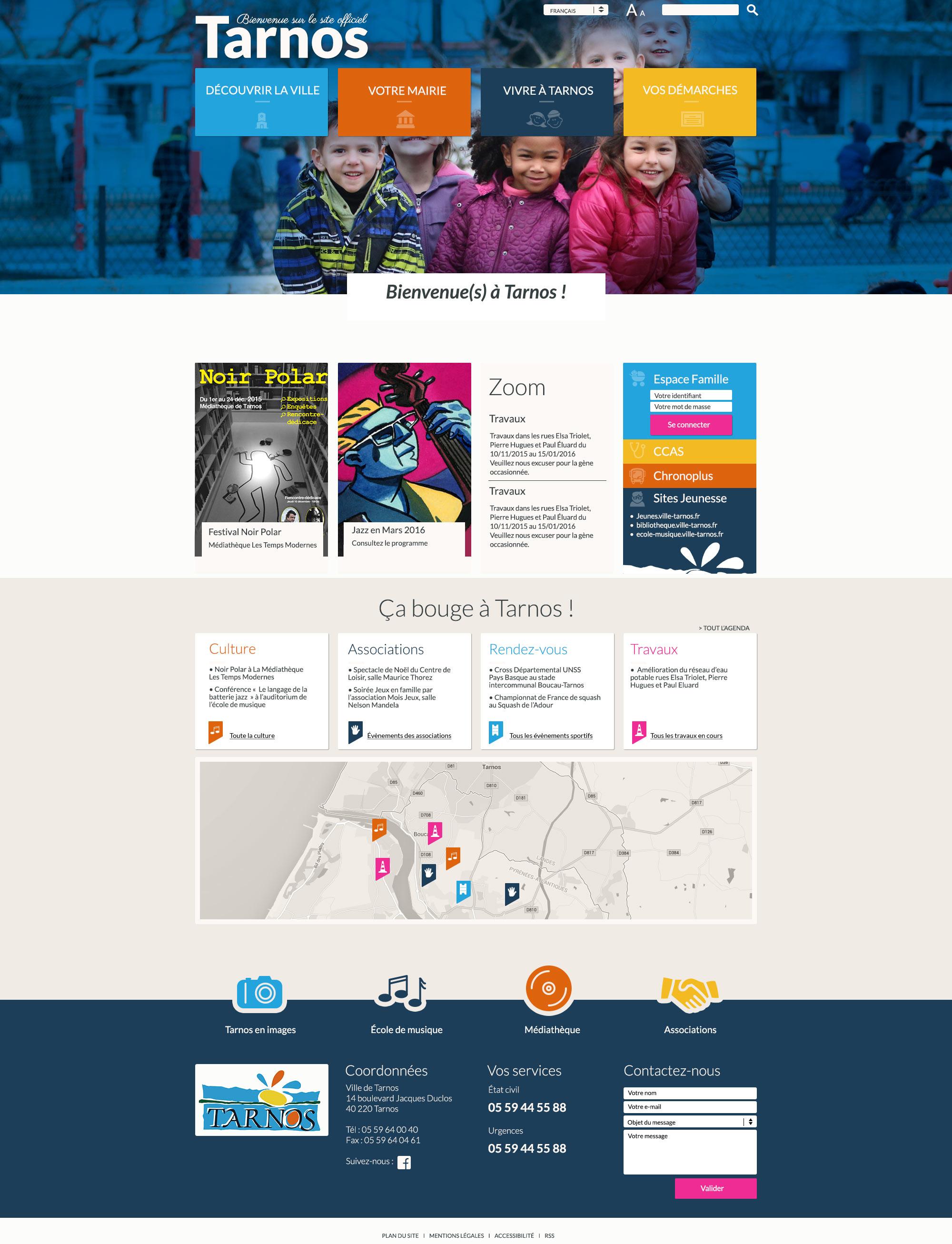 Mairie de Tarnos : webdesign de la Mairie de tarnos