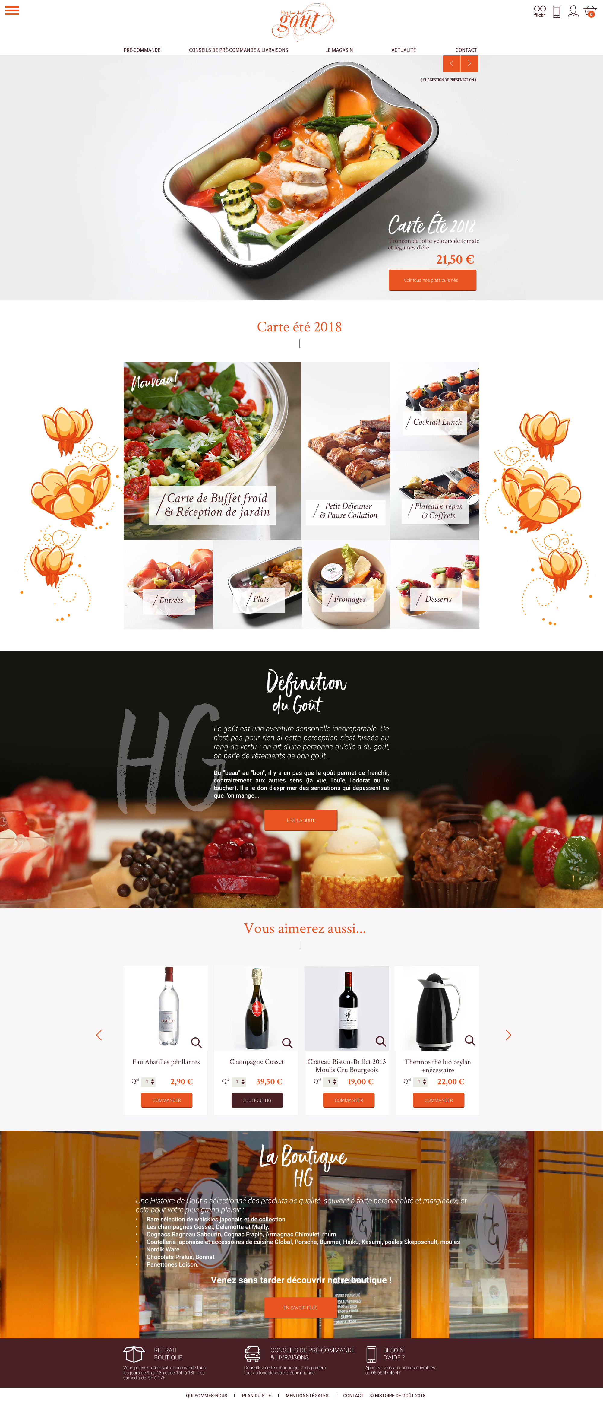 Une Histoire de Goût : gastronomie, Traiteur, épicerie fine. Une histoire de gout est situé à Mérignac, 136 avenue de Saint-Médard,  proche de Bordeaux.