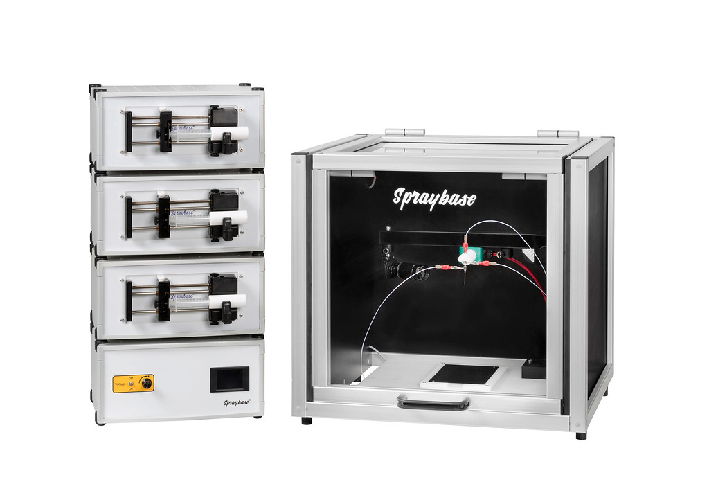 triaxial+spraybase+electrospinning