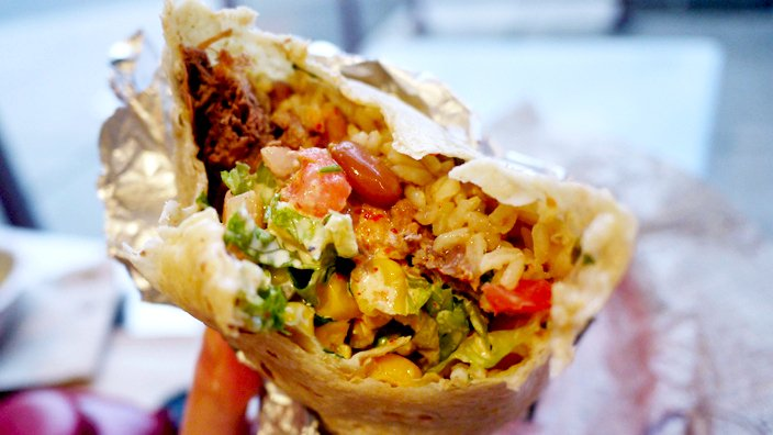 The burrito that may have saved McKennedy's life.