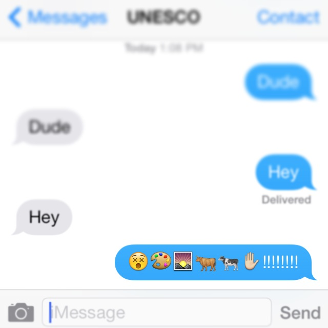 Jacques text message to UNESCO