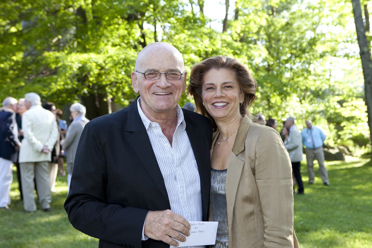 PHOTO CAPTION: Martin Monas and wife, former New York City Ballet Dancer Teresa   Reyes during cocktail hour. Photographer Tina Lane; courtesy of Jacob's Pillow Dance