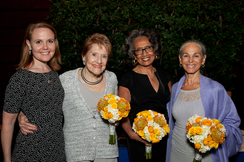 (L-R) Dance/USA Executive Director Amy Fitterer, Barbara Weisberger, Joan Myers Brown and Sharon Gersten Luckman.  Photo Credit Alexander  Izialiaev