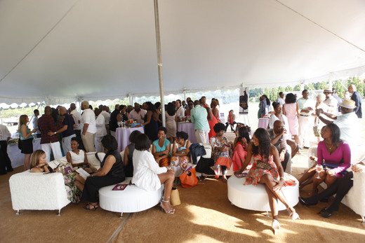 Patrons enjoying the atmosphere at the 10th Annual On Our Toes. Photo Credit Getty Images