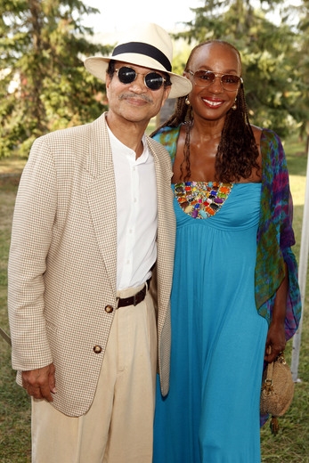 Honorary Co-Chairs of the event Khephra Burns and Susan Taylor.  Photo Credit Getty Images.