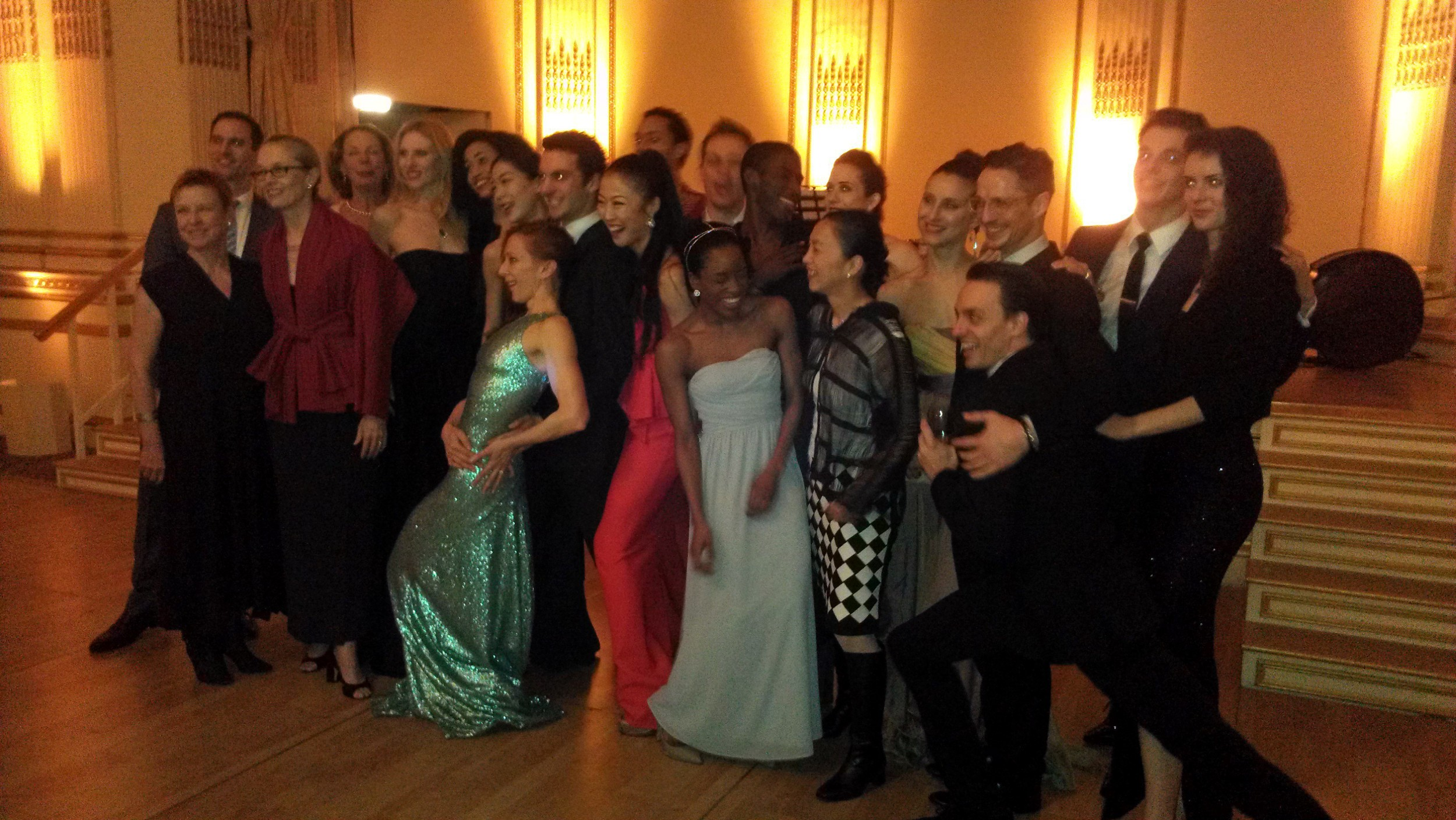 Graham Dancers and staff gather for an impromptu picture.