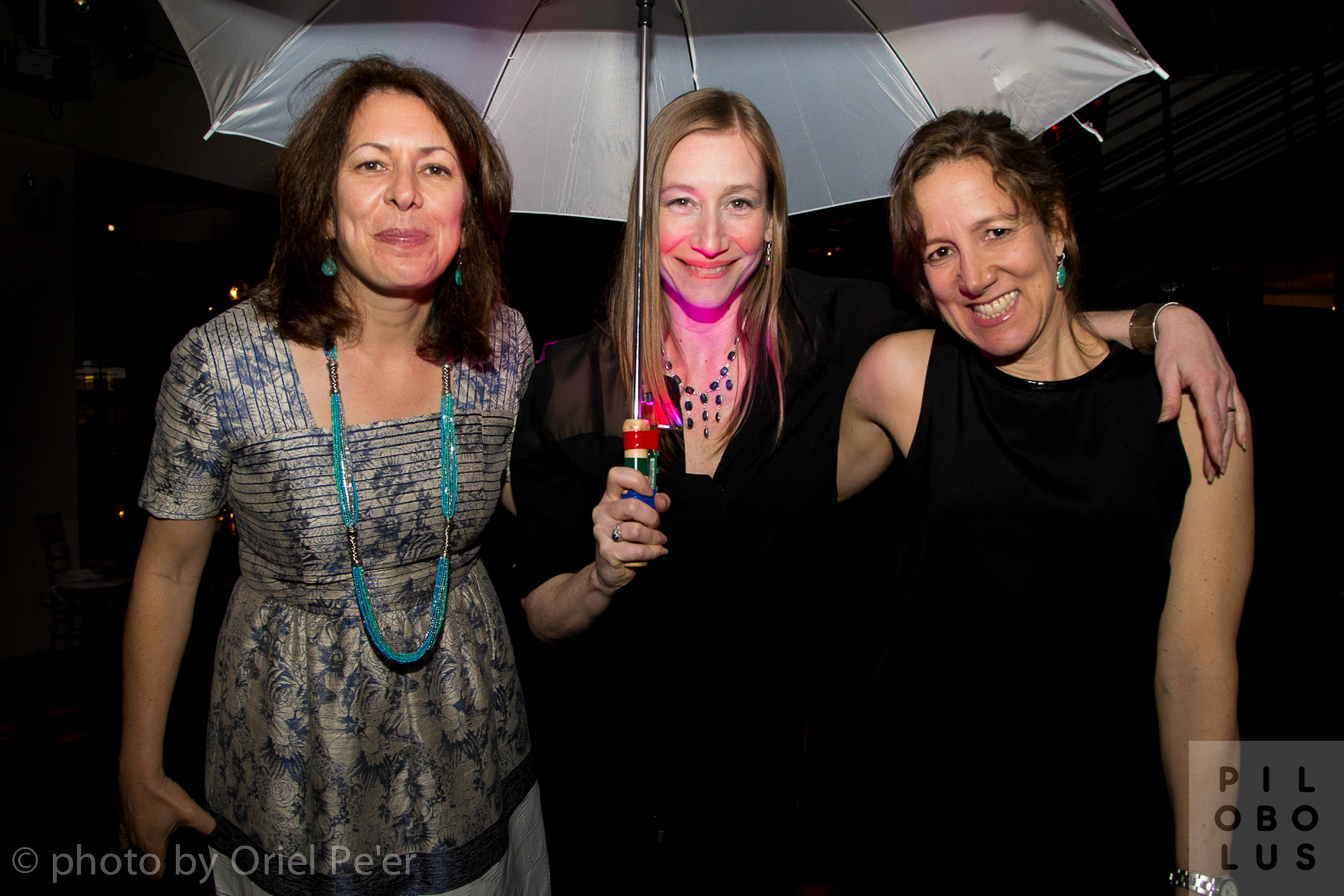 Leslie Kaufman, Pilobolus Associate Artistic Director Renée Jaworski, Robin Pogrebin