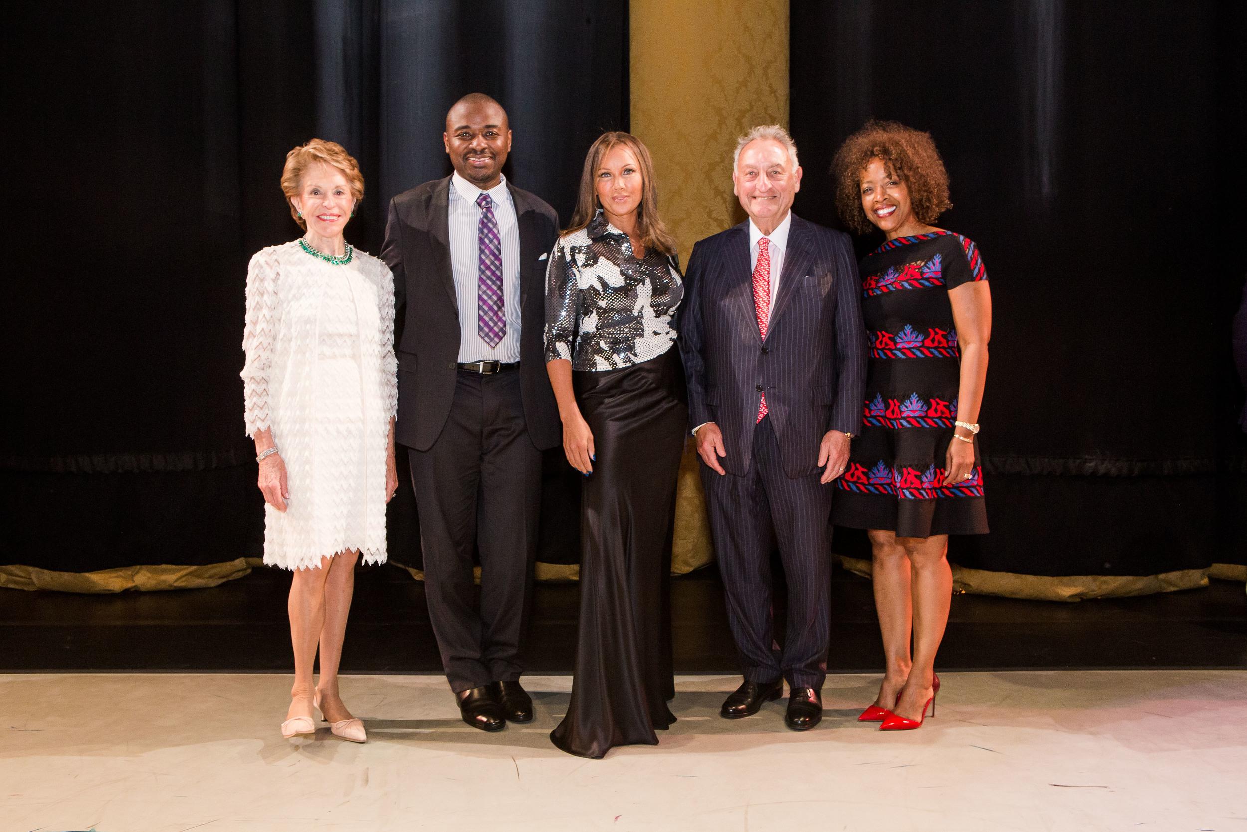 Joan Weill, Robert Battle, Vanessa Williams, Sanford Weill, and Gina Adams at the 2014 Ailey Spirit Gala at Lincoln Center. Photo by Dario Calmese Jr.
