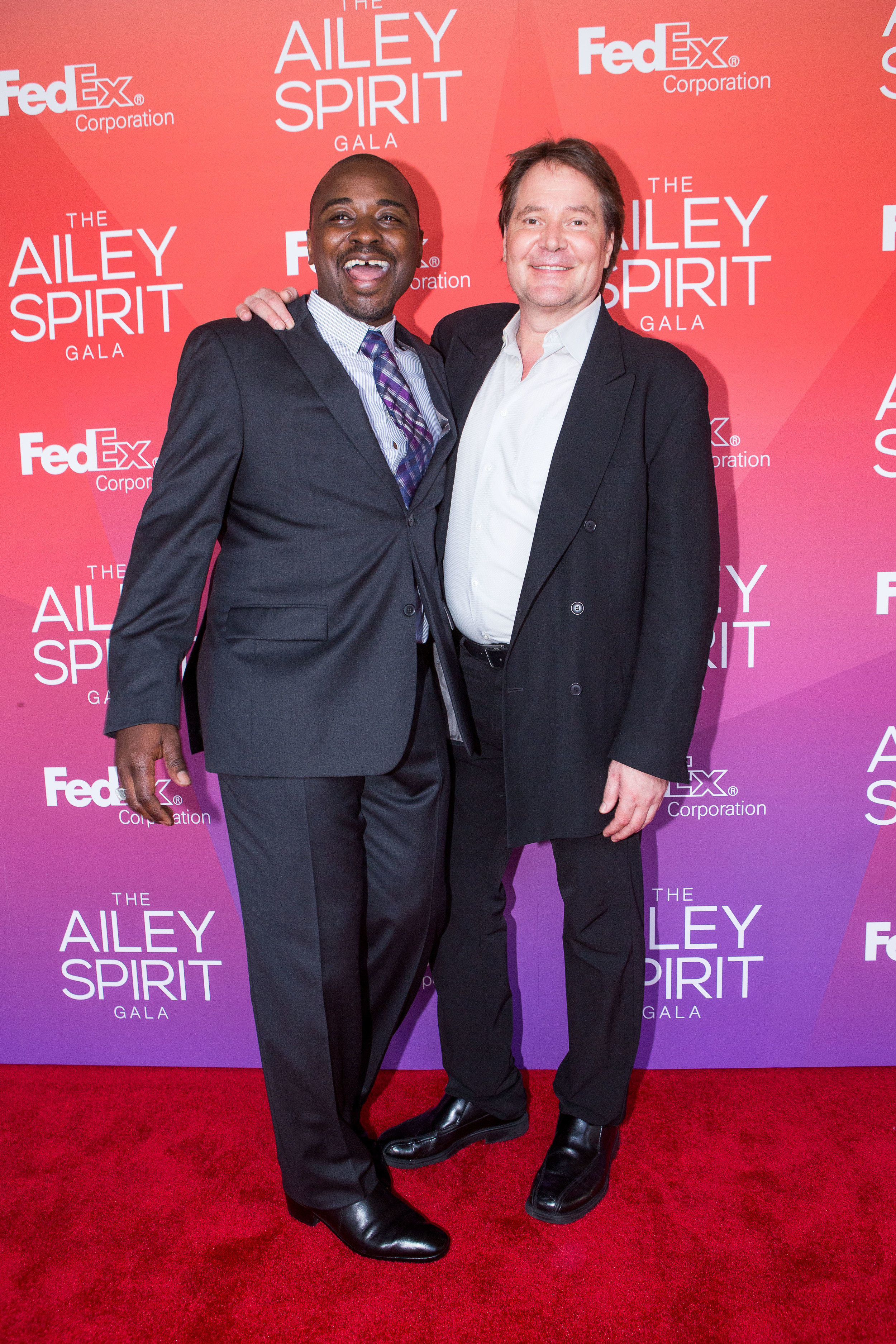 Alvin Ailey American Dance Theater Artistic DirectorRobert Battle and David Parsons at the 2014 Ailey Sprit Gala at Lincoln Center. Photo by Dario Calmese Jr.
