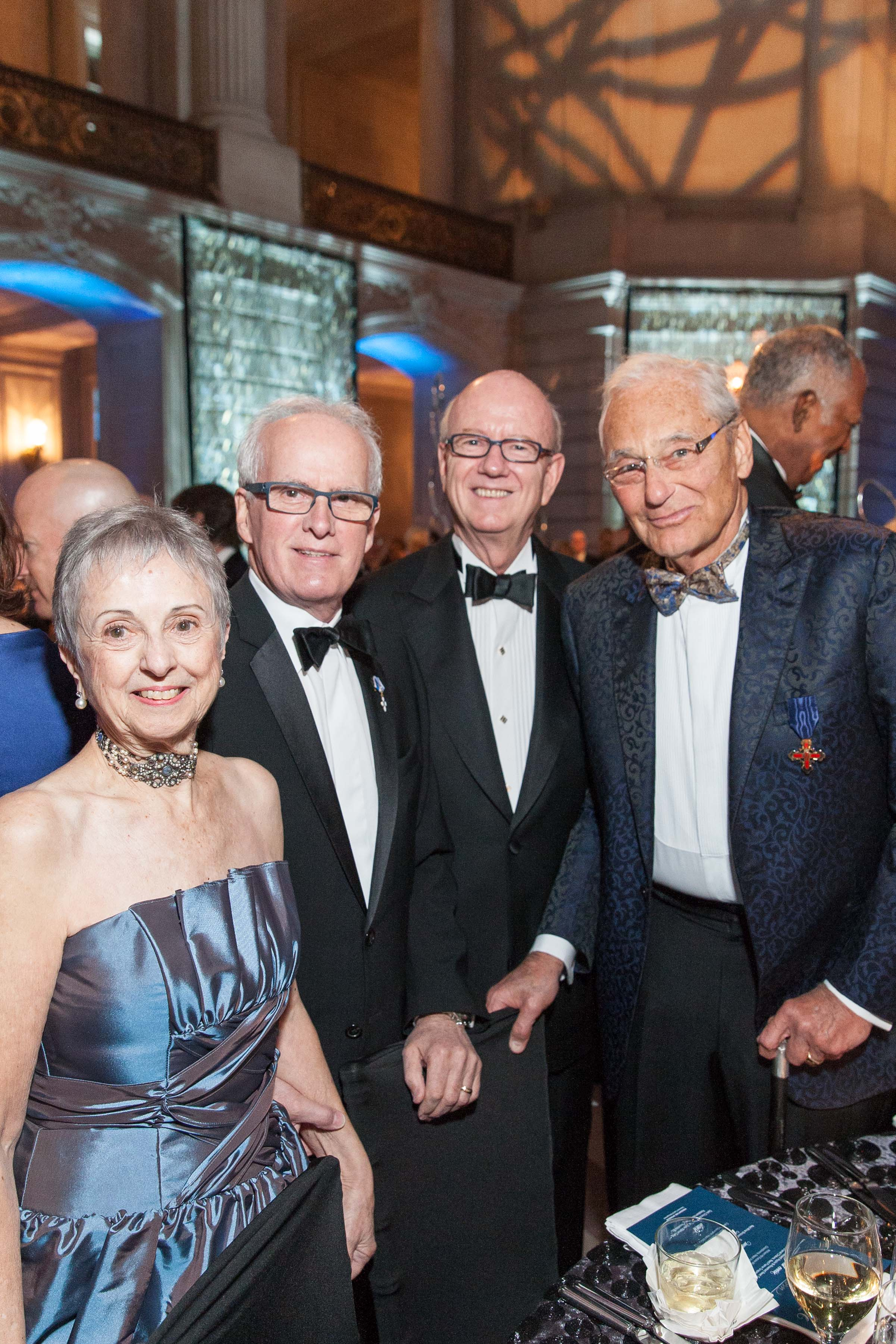 Marlene Tomasson, Helgi Tomasson, Tom Horn and Tom Perkins. Photo Credit Rachel Bussiers for  Drew Altizer Photography
