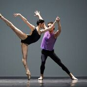 """San Francisco Ballet dancers Carlo Di Lanno and Sofiane Sylve in William Forsythe's """"Pas/Parts 2016."""" Photo by Erik Tomasson."""