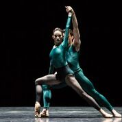 """Houston Ballet dancers Madeline Skelly and Connor Walsh in William Forsythe's """"In the middle, somewhat elevated."""" Photo by Amitava Sarkar."""