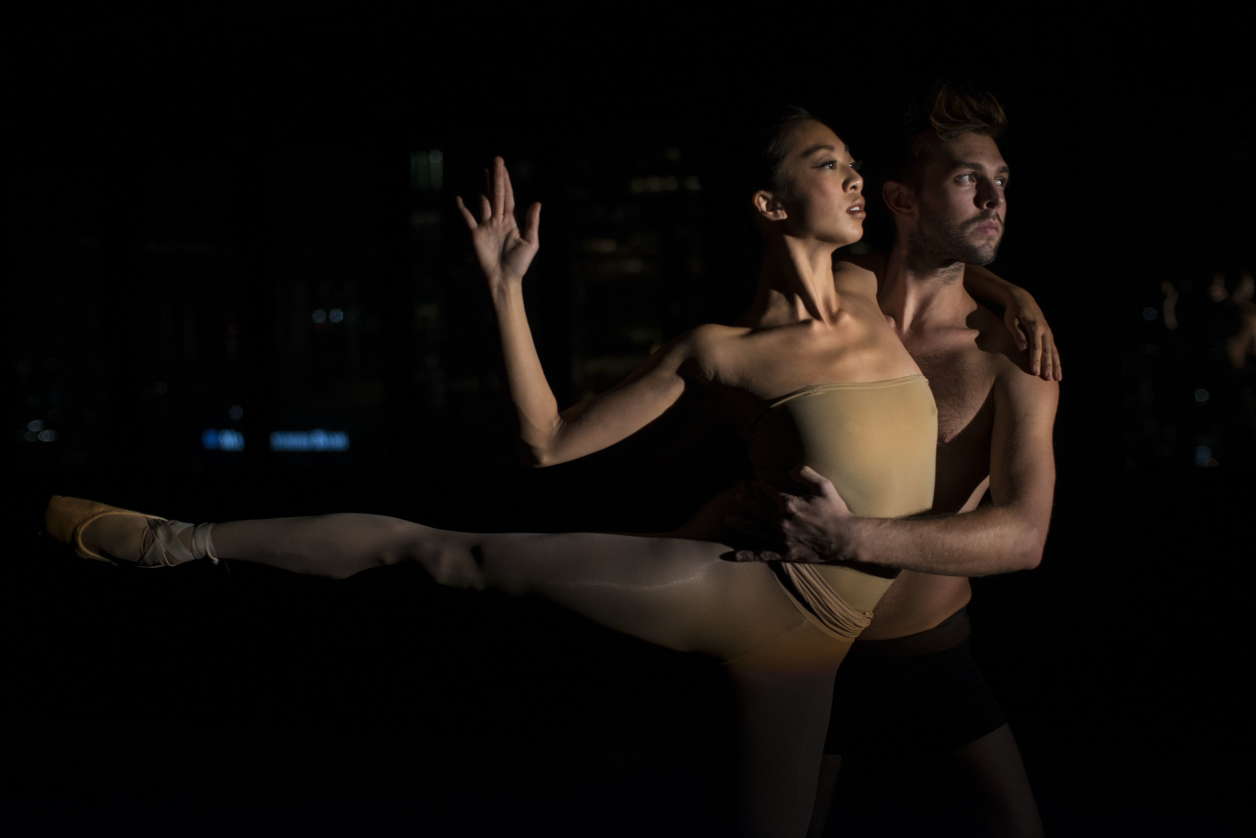 ACB Dancers Rochelle Chang and Ian Schwaner.  Photo Credit Art Lessman