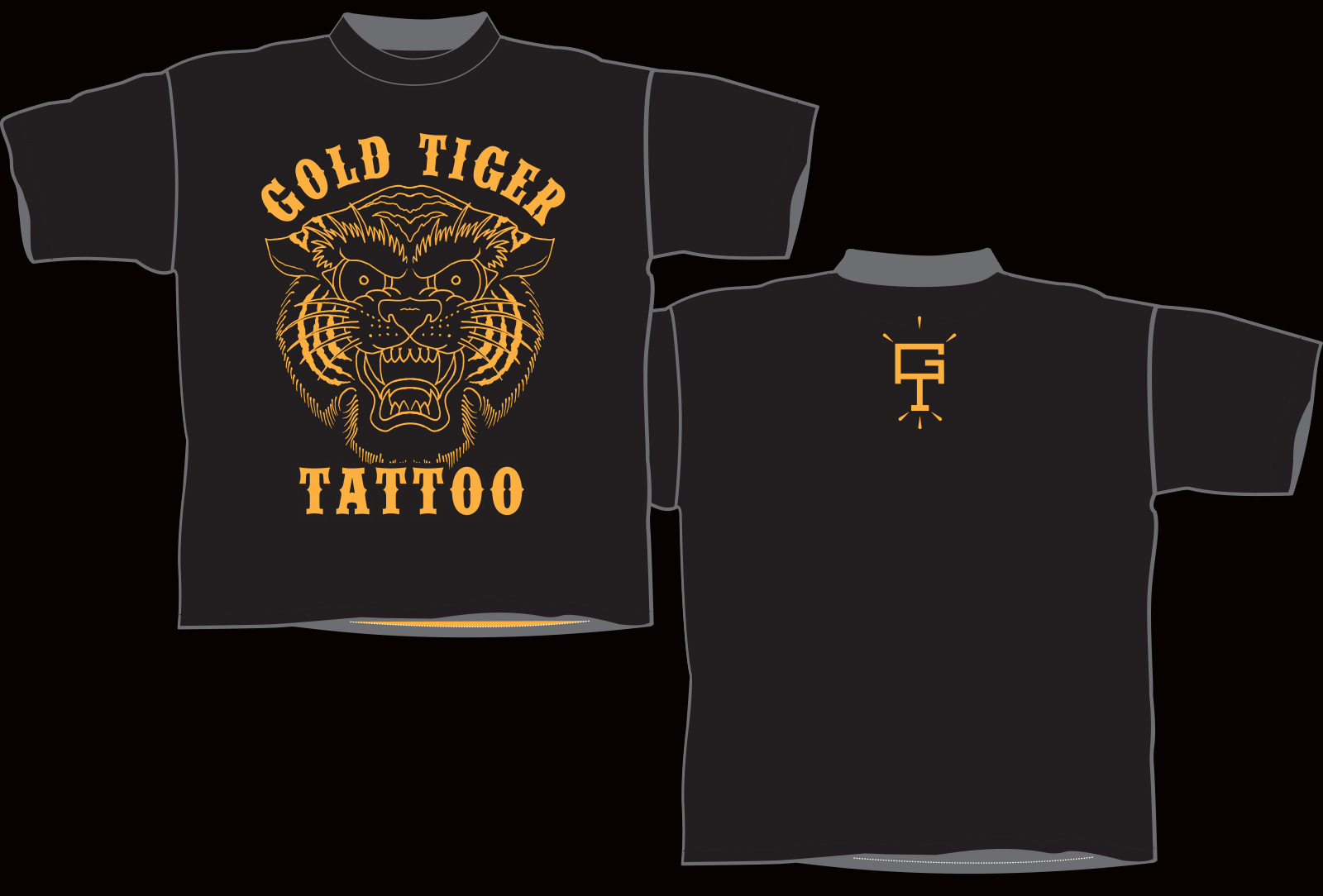 T-shirts are available in L, XL and XXL, black shirt with gold print. $25.00 shipped!