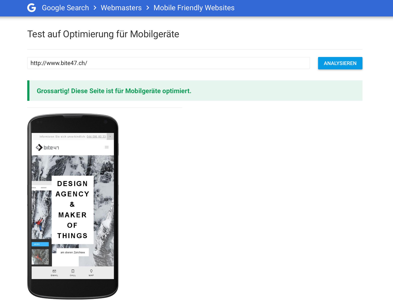 Teste deine Webseite auf Optimierung für Mobilgeräte